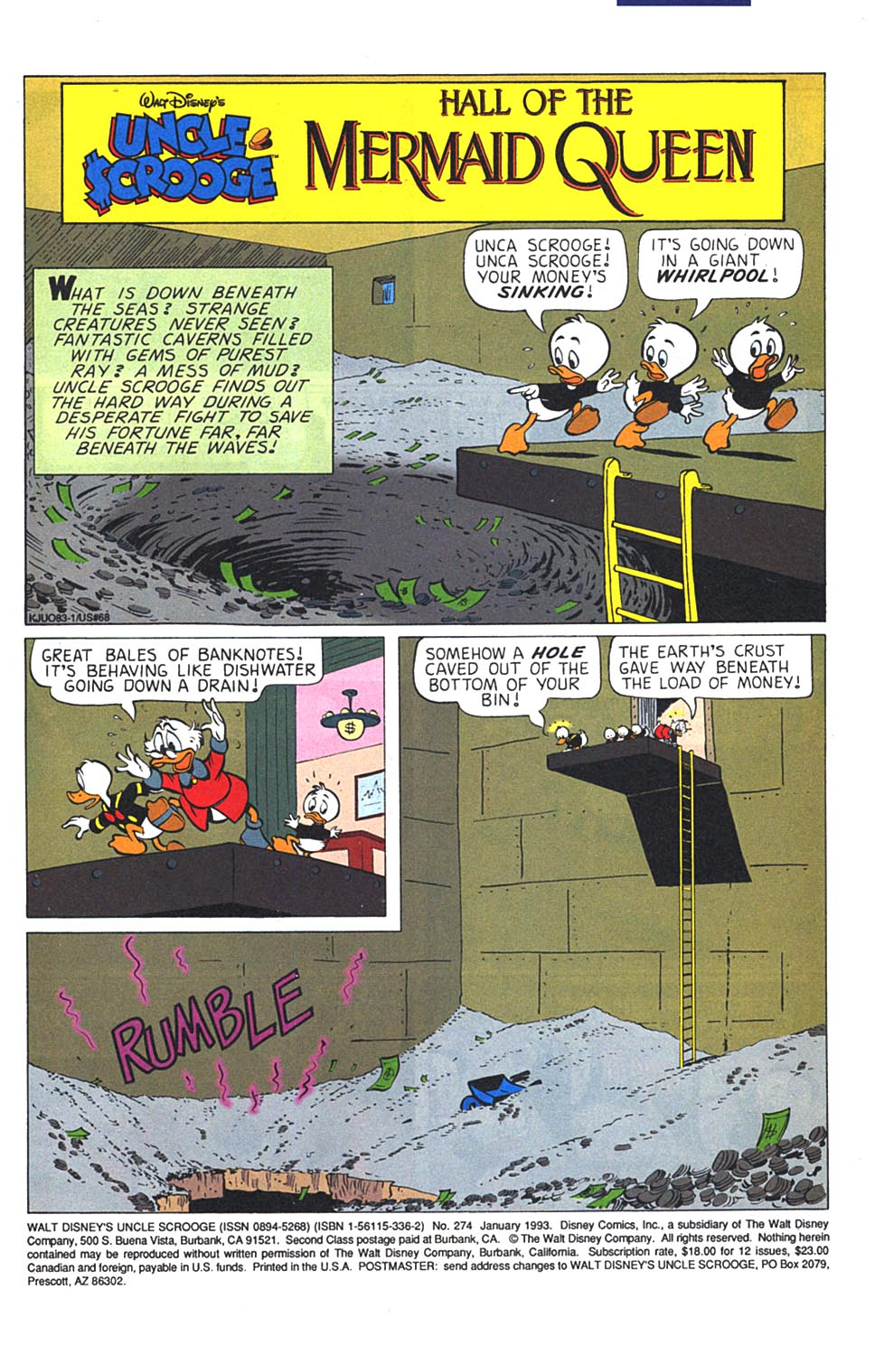 Read online Uncle Scrooge (1953) comic -  Issue #274 - 2