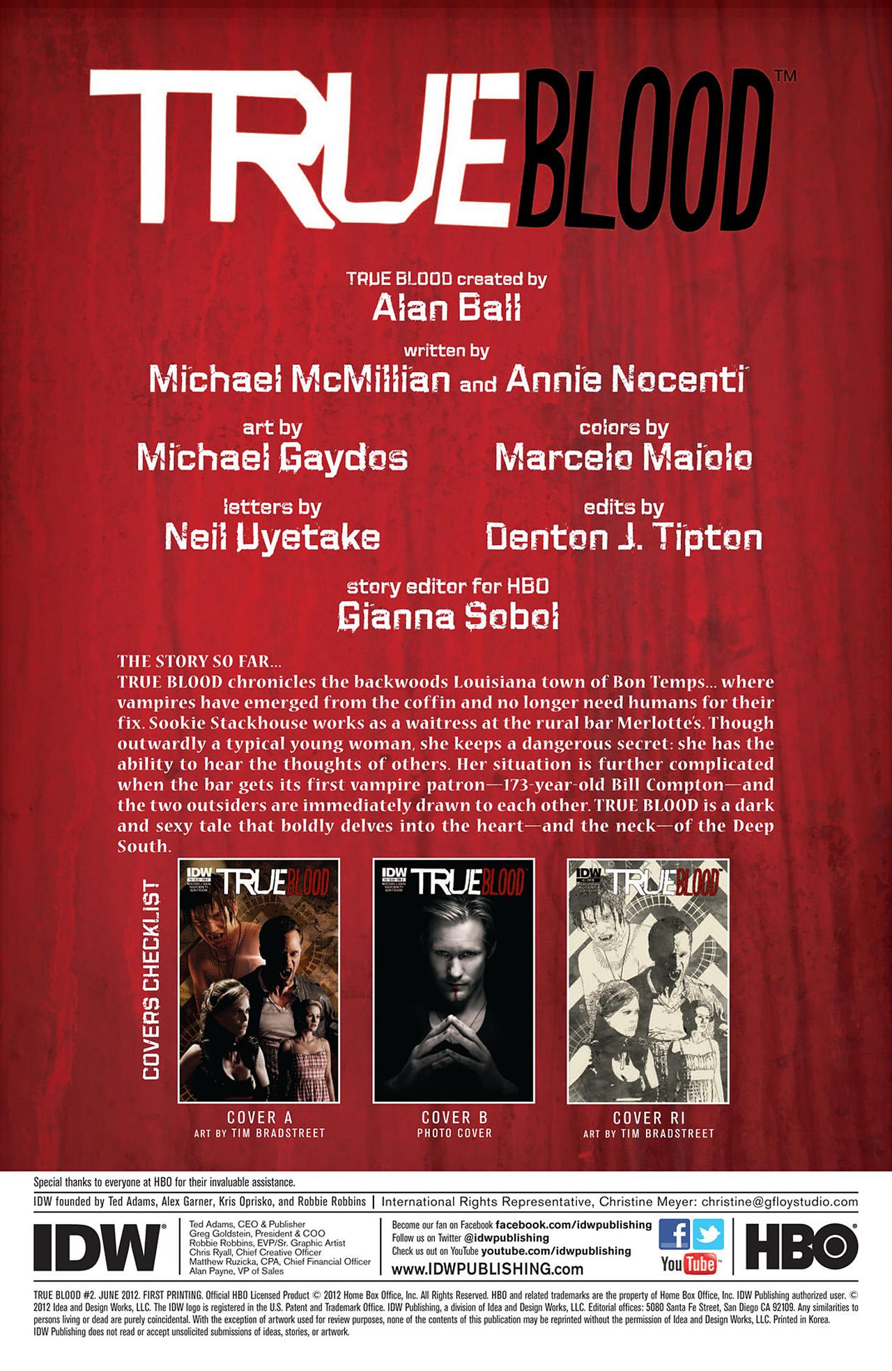 Read online True Blood (2012) comic -  Issue #2 - 2
