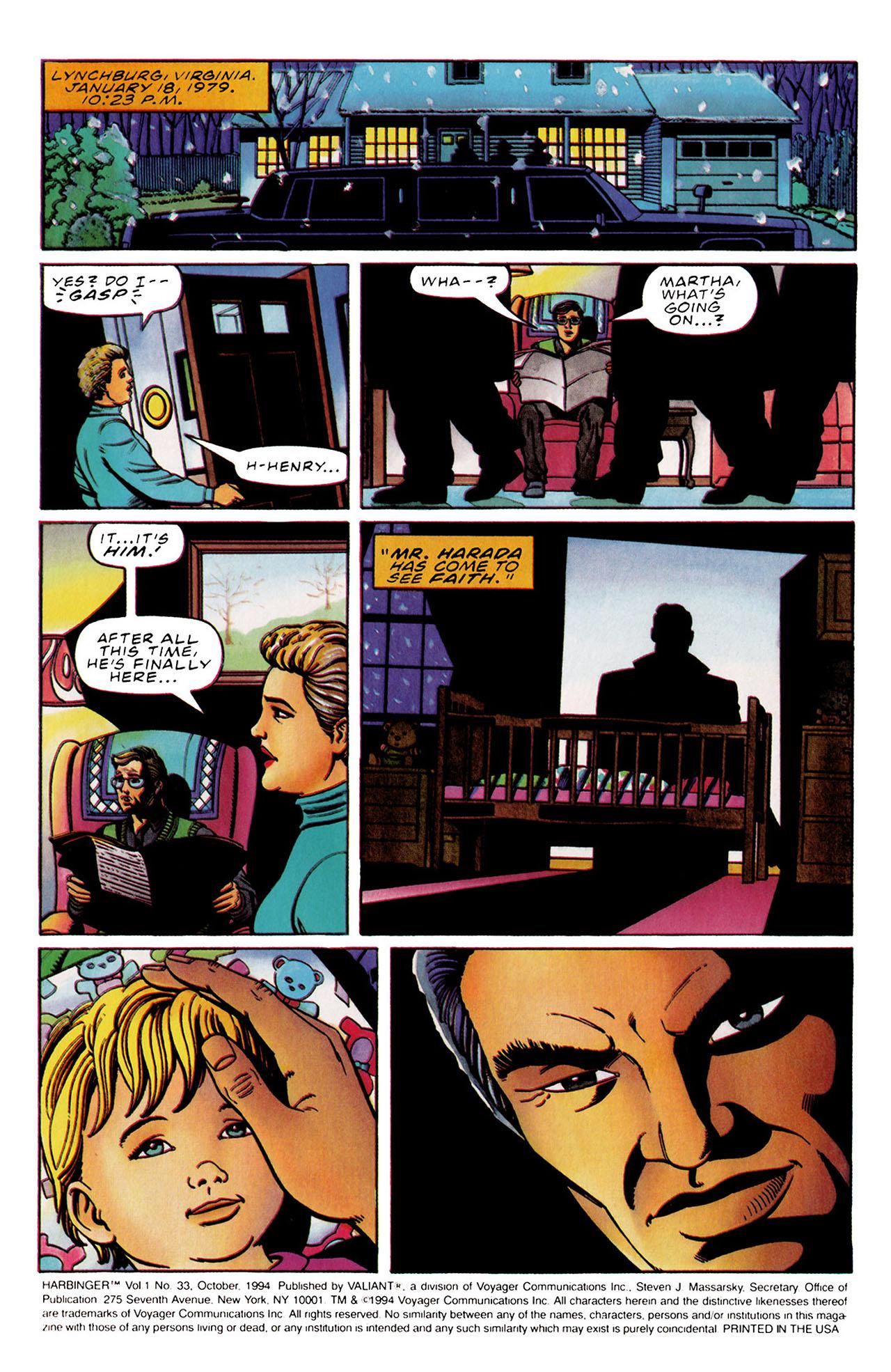 Read online Harbinger (1992) comic -  Issue #33 - 2