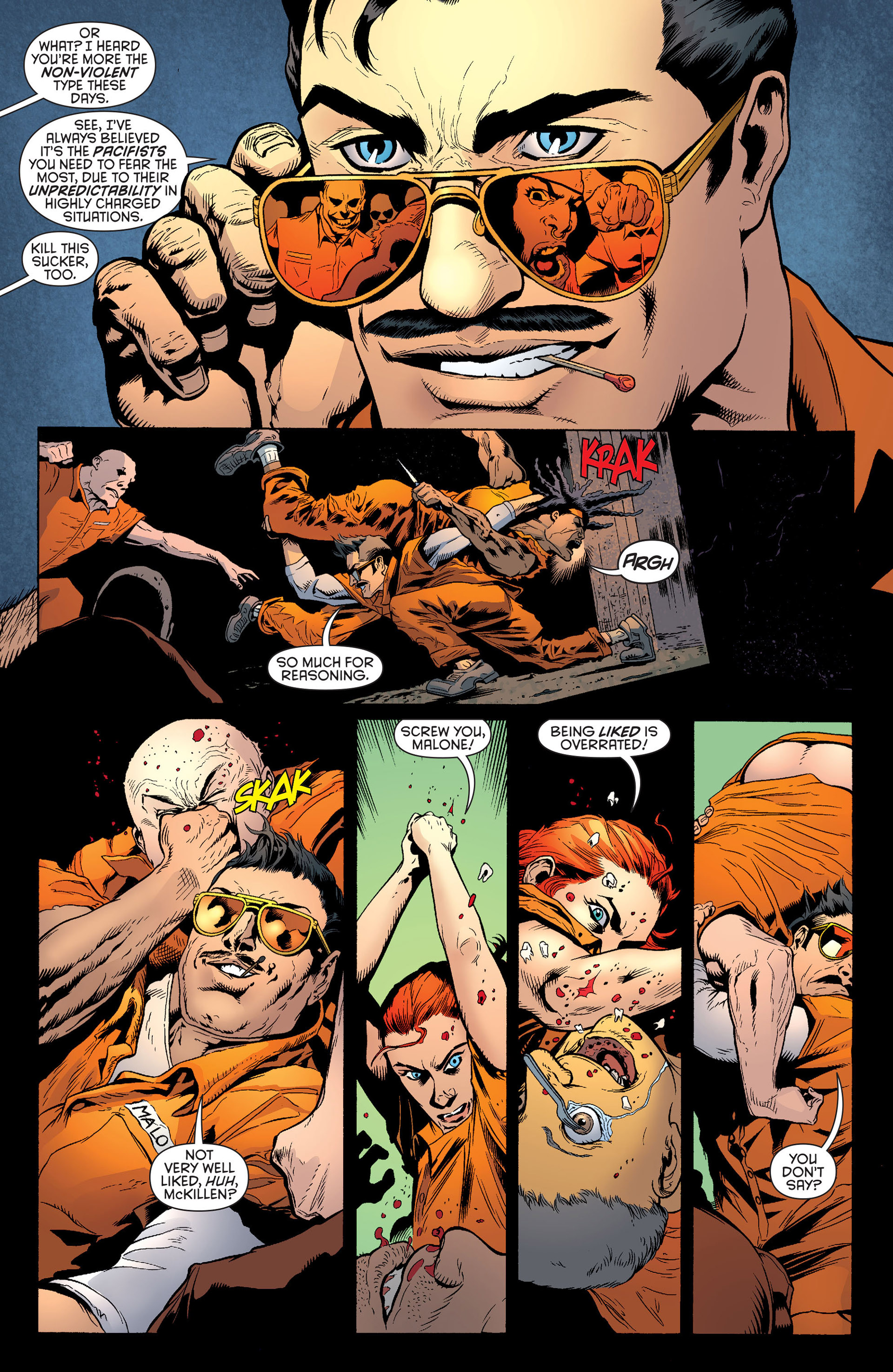 Read online Batman and Robin (2011) comic -  Issue #25 - Batman and Two-Face - 18