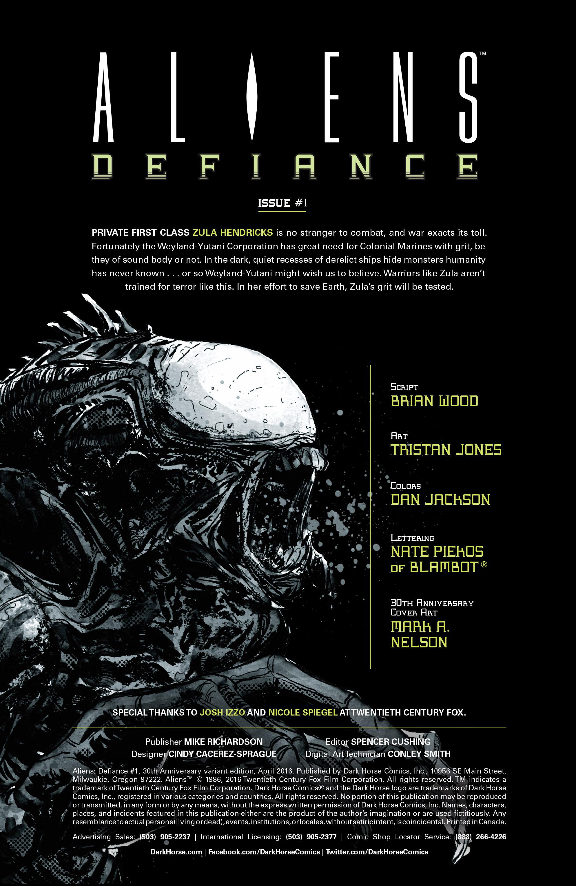Read online Aliens: Defiance comic -  Issue #1 - 6