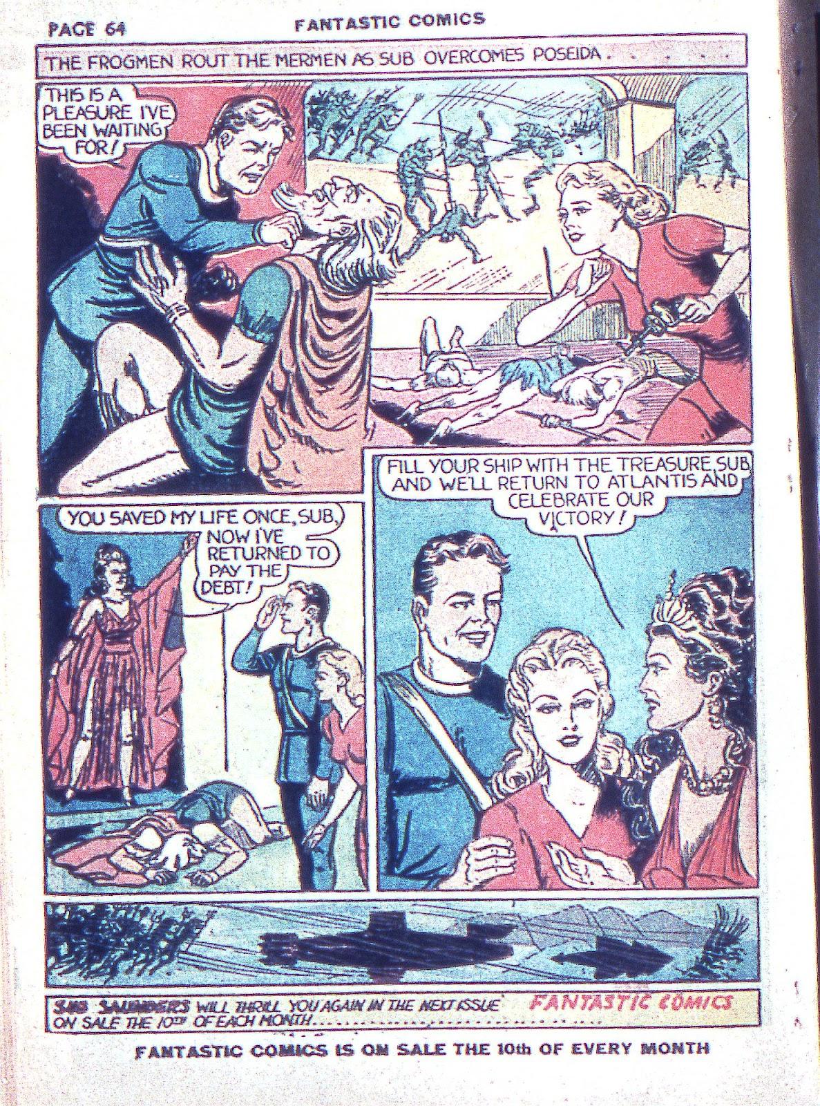 Read online Fantastic Comics comic -  Issue #3 - 66