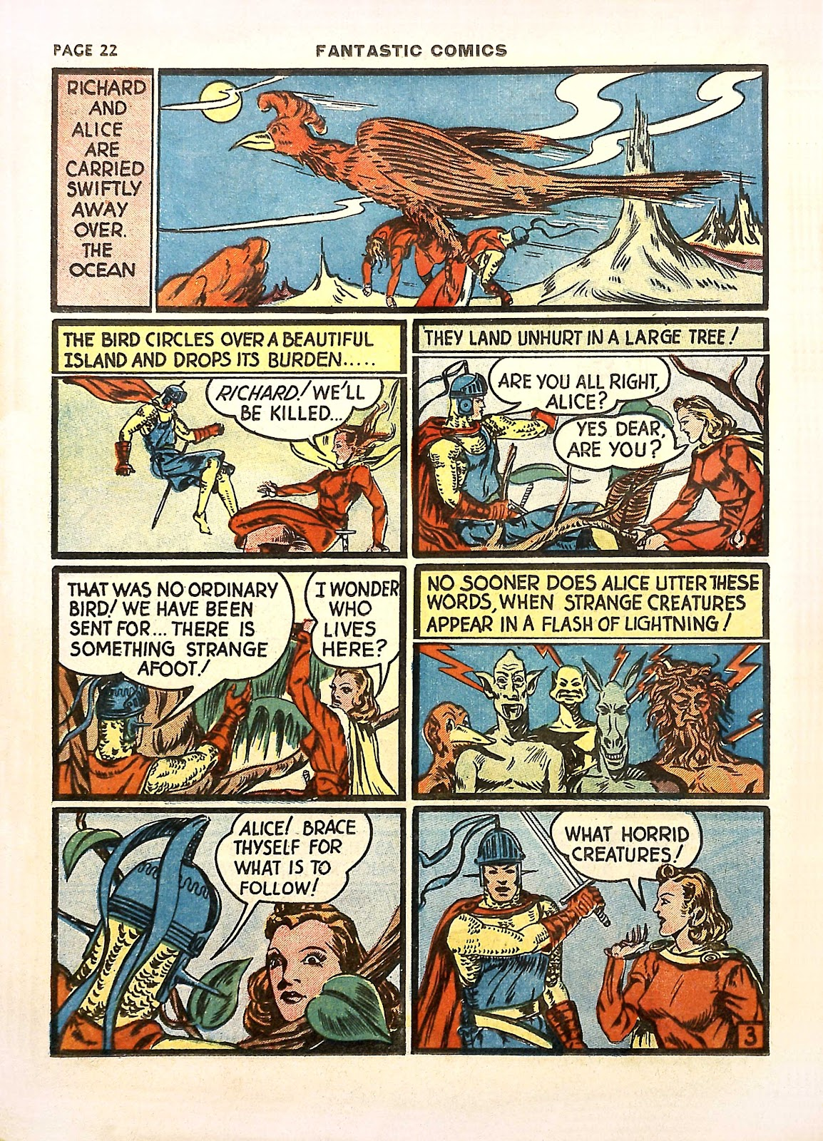 Read online Fantastic Comics comic -  Issue #11 - 25