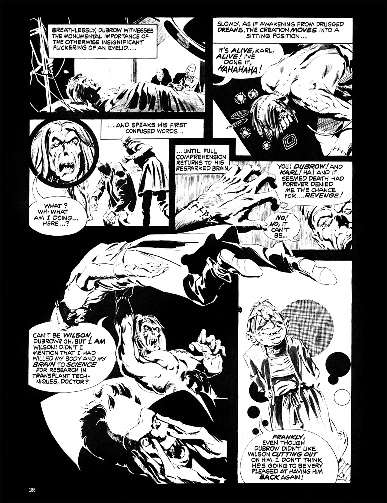 Read online Eerie Archives comic -  Issue # TPB 6 - 186