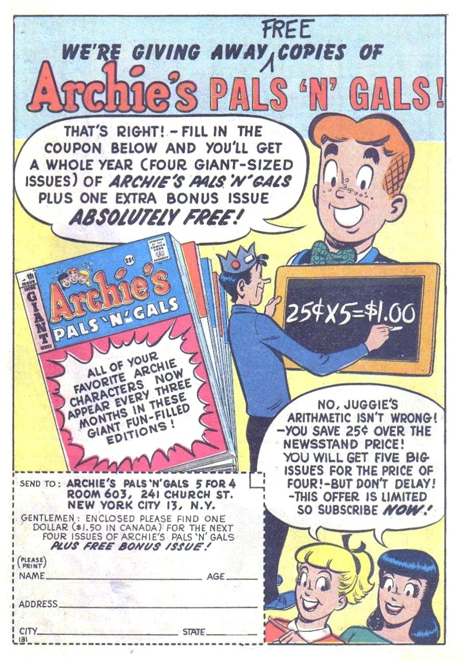 Read online Archie (1960) comic -  Issue #126 - 19