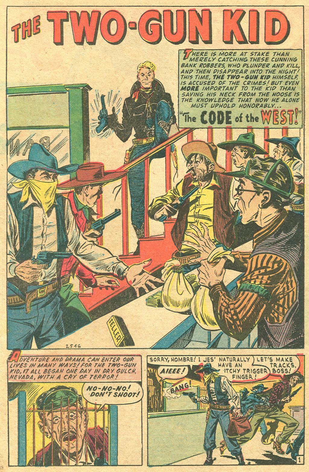 Read online Two-Gun Kid comic -  Issue #1 - 22