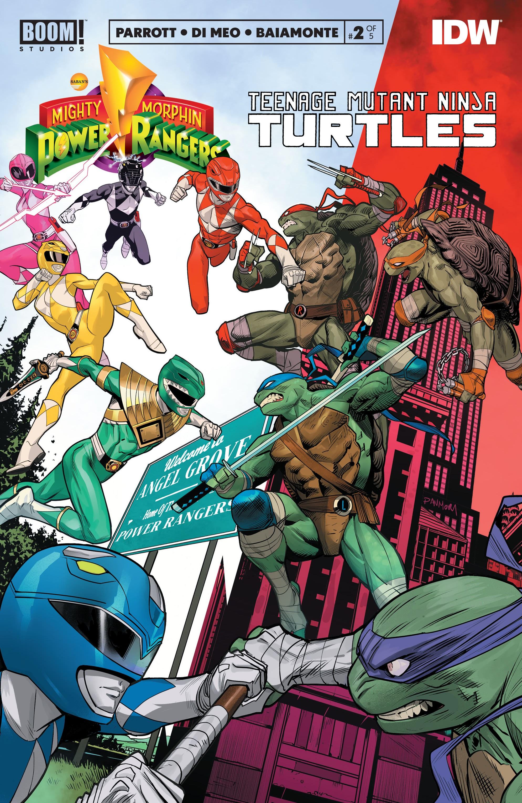 Mighty Morphin Power Rangers: Teenage Mutant Ninja Turtles 2 Page 1