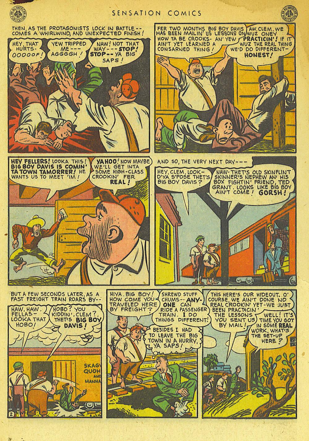 Read online Sensation (Mystery) Comics comic -  Issue #42 - 43