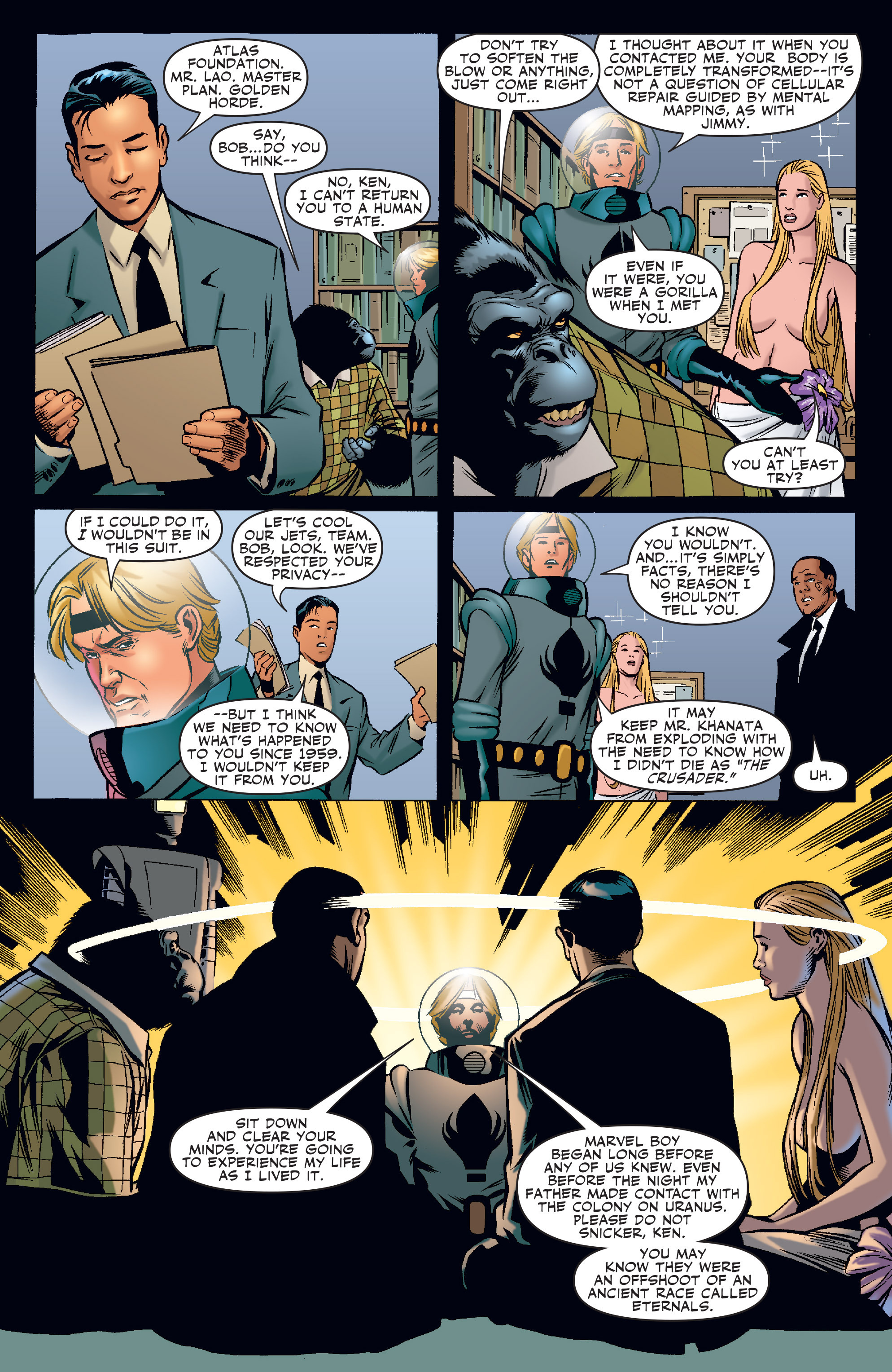 Read online Agents Of Atlas (2006) comic -  Issue #3 - 16