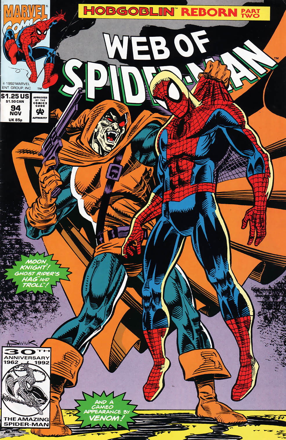 Web of Spider-Man (1985) 94 Page 1