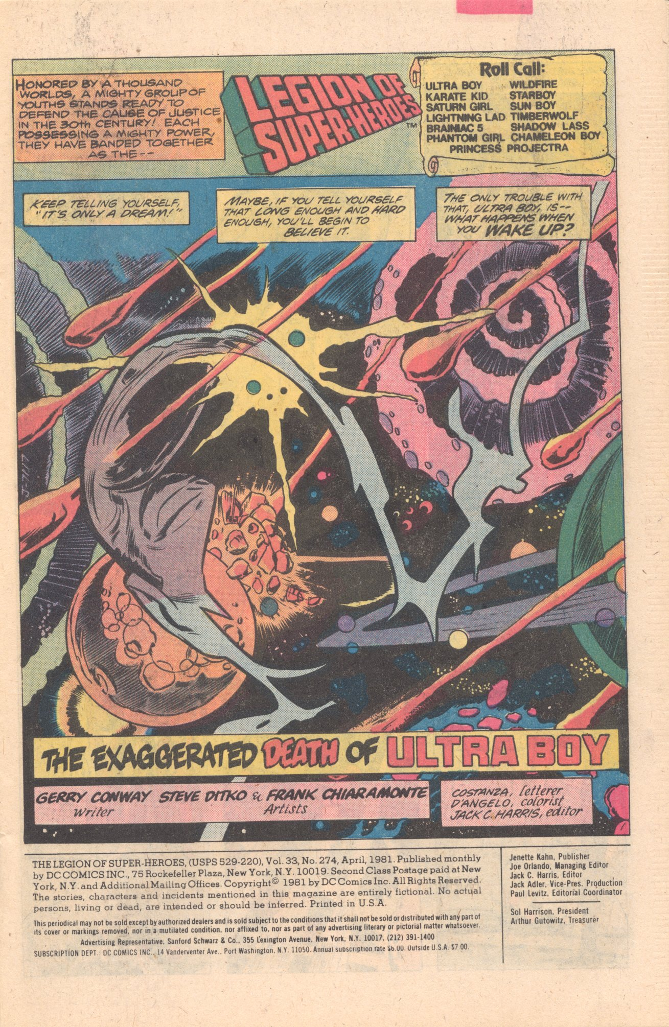 Legion of Super-Heroes (1980) 274 Page 1