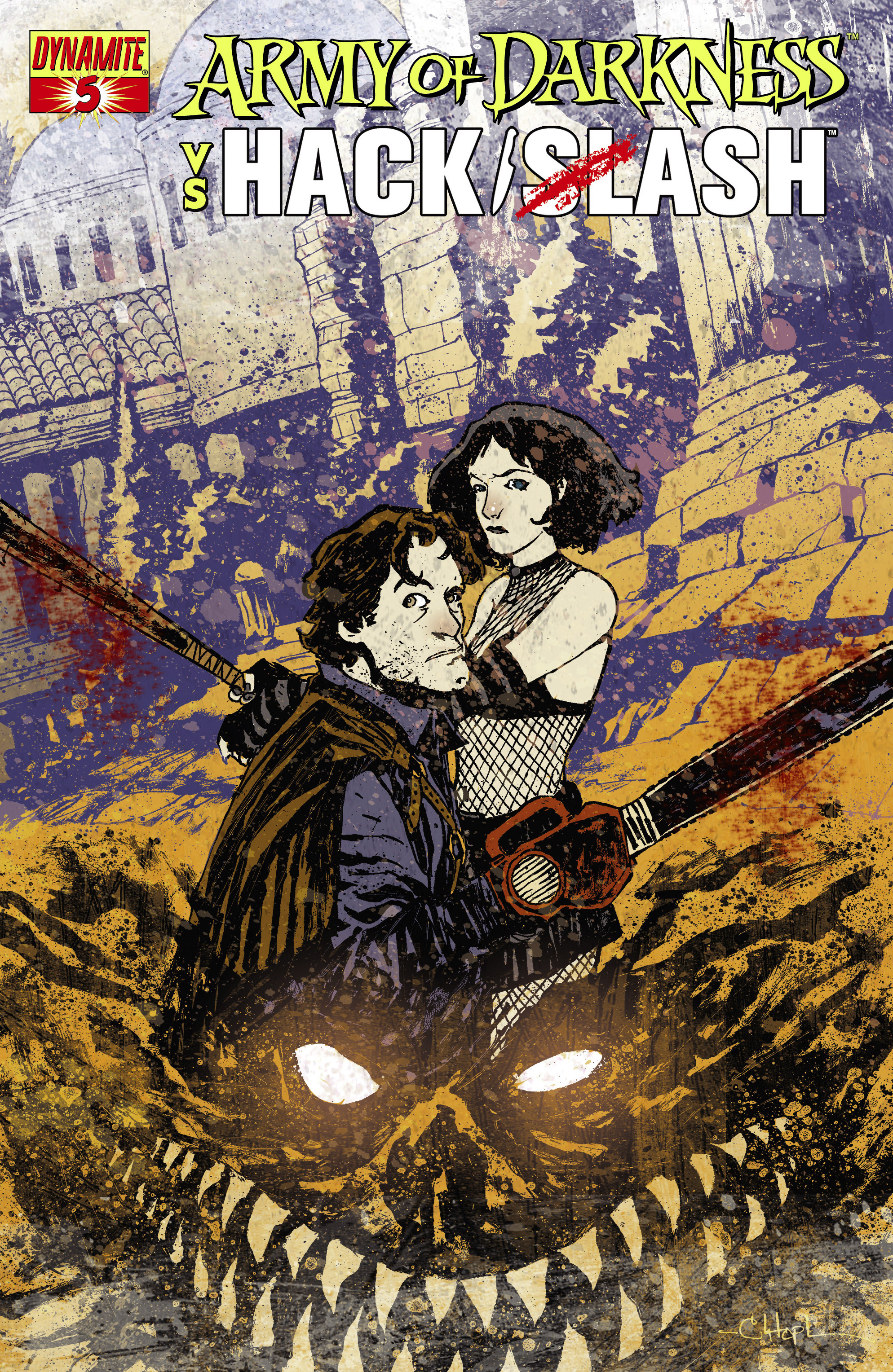 Read online Army of Darkness vs. Hack/Slash comic -  Issue #5 - 3