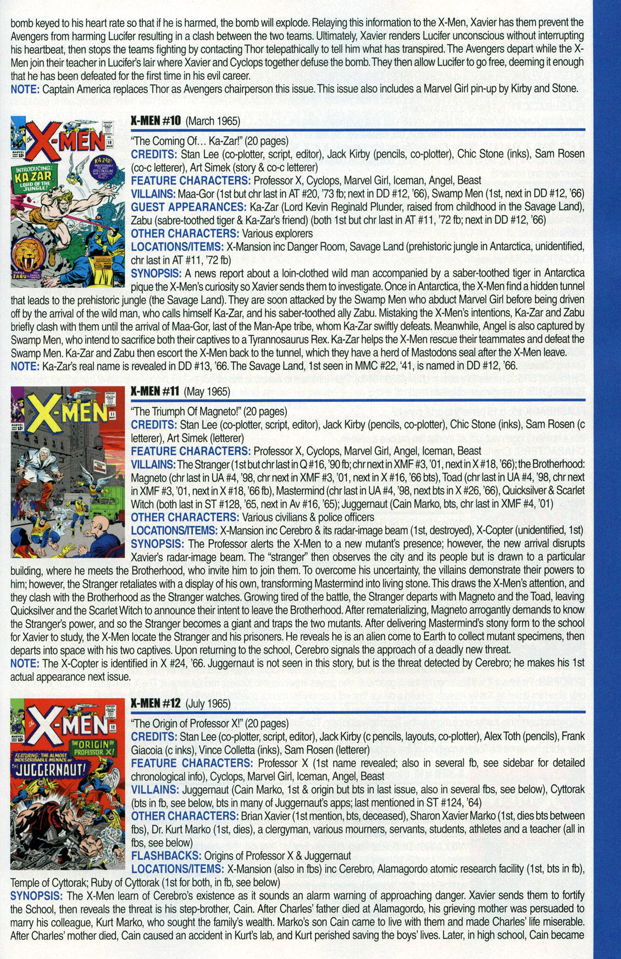Read online Official Index to the Marvel Universe comic -  Issue #1 - 49