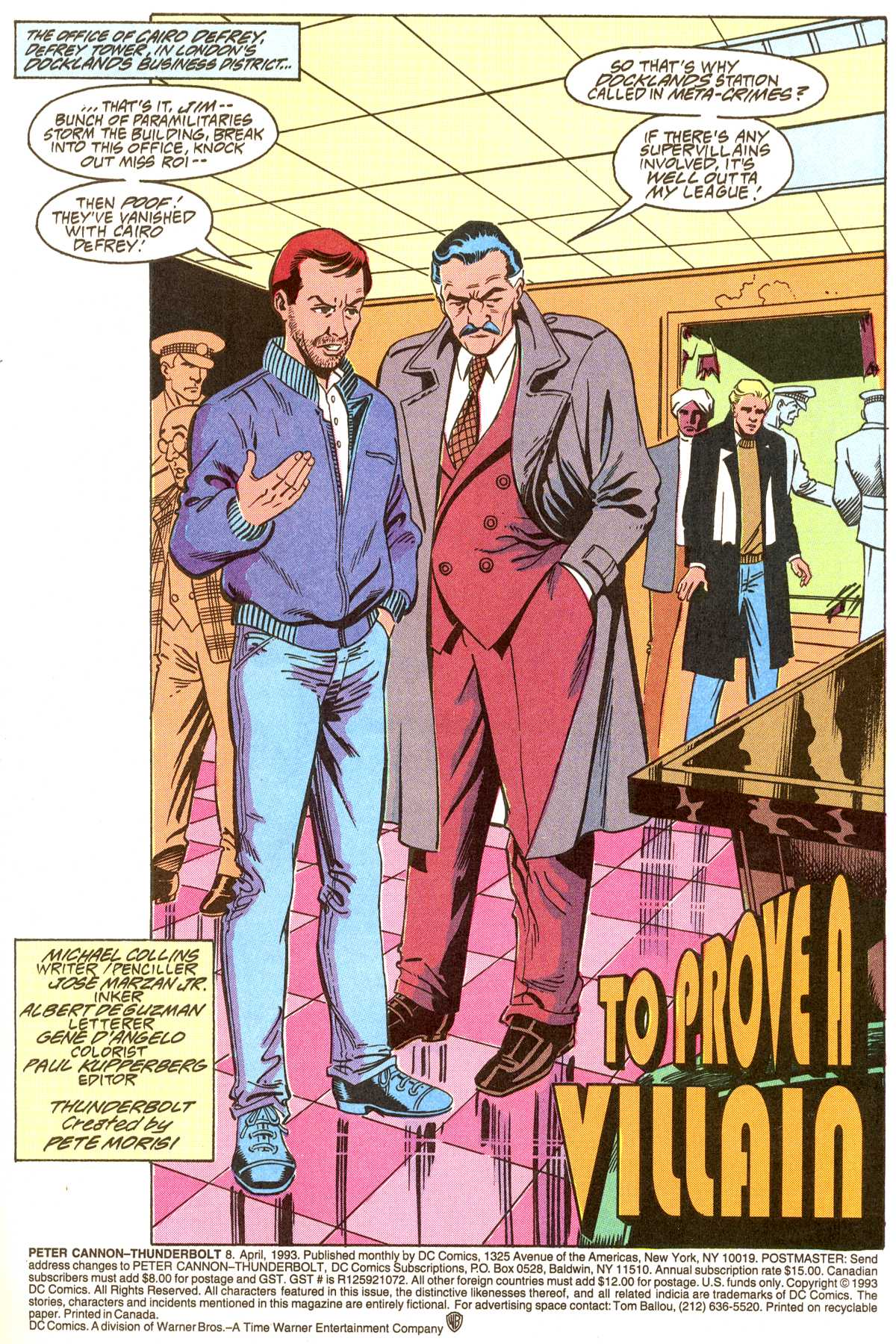 Read online Peter Cannon--Thunderbolt (1992) comic -  Issue #8 - 2