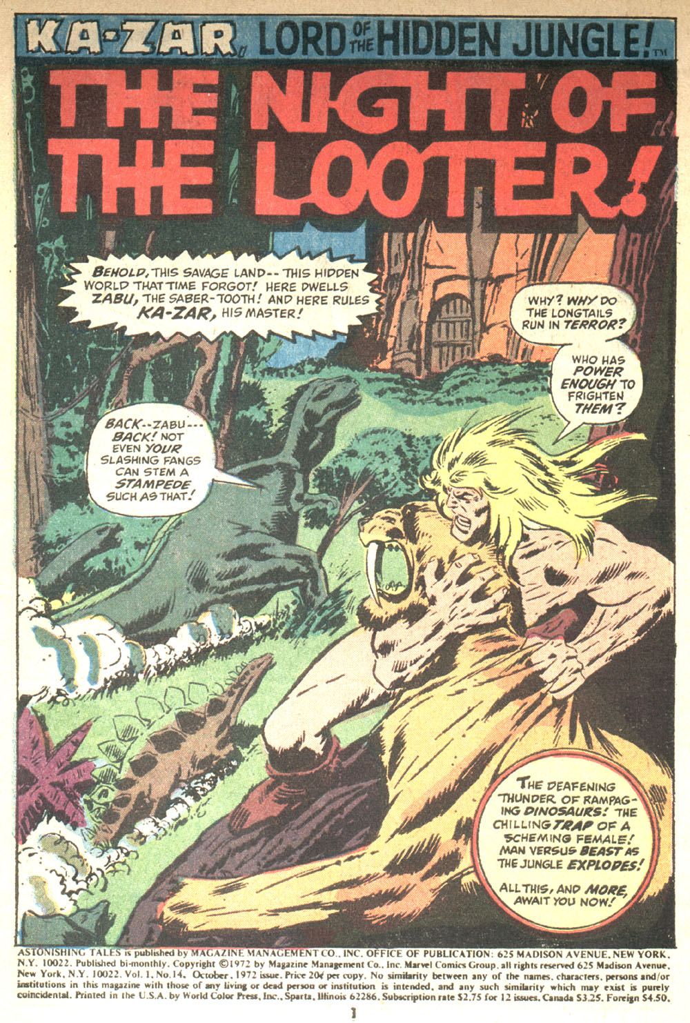 Astonishing Tales (1970) issue 14 - Page 2