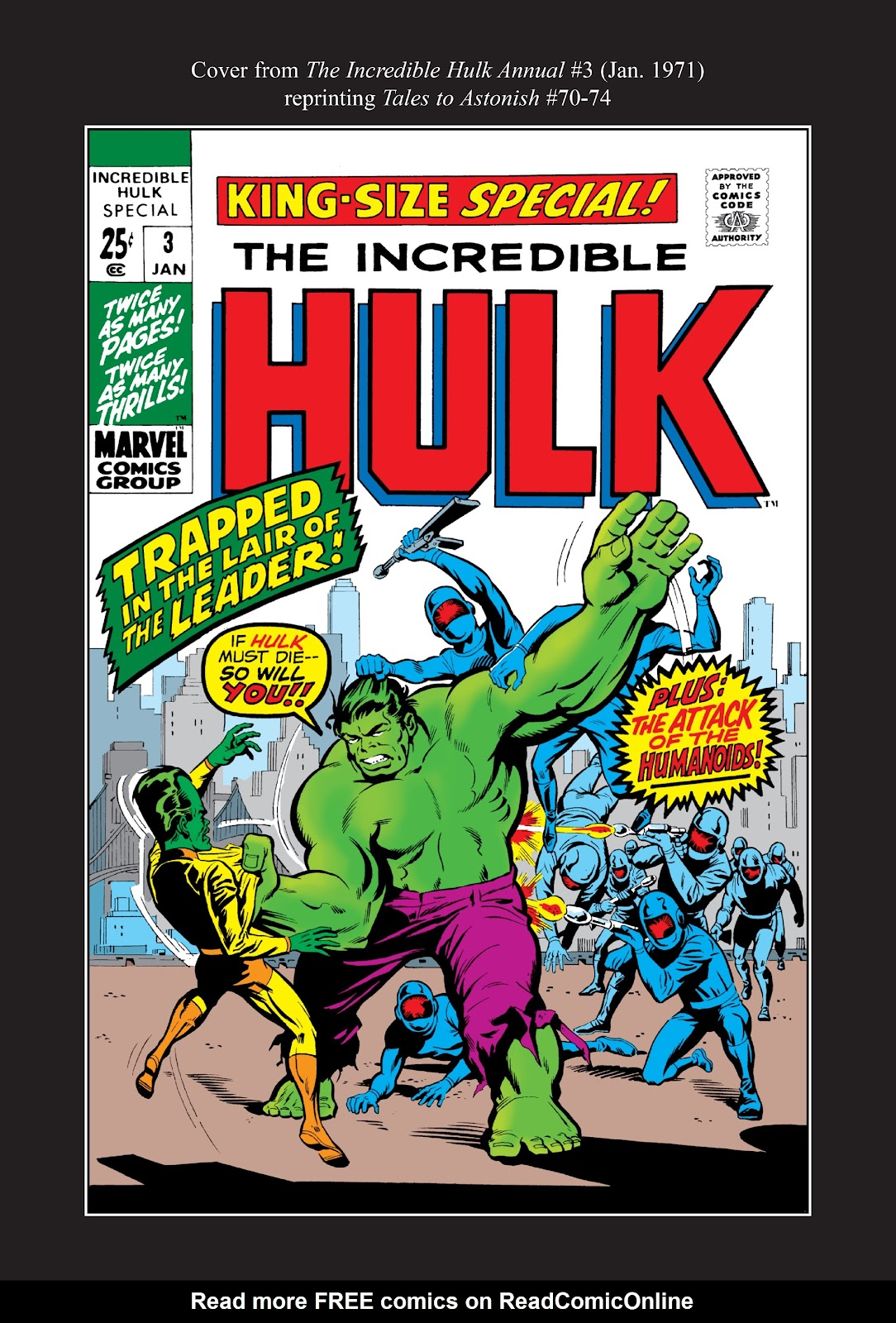 Read online Marvel Masterworks: The Incredible Hulk comic -  Issue # TPB 7 (Part 3) - 49
