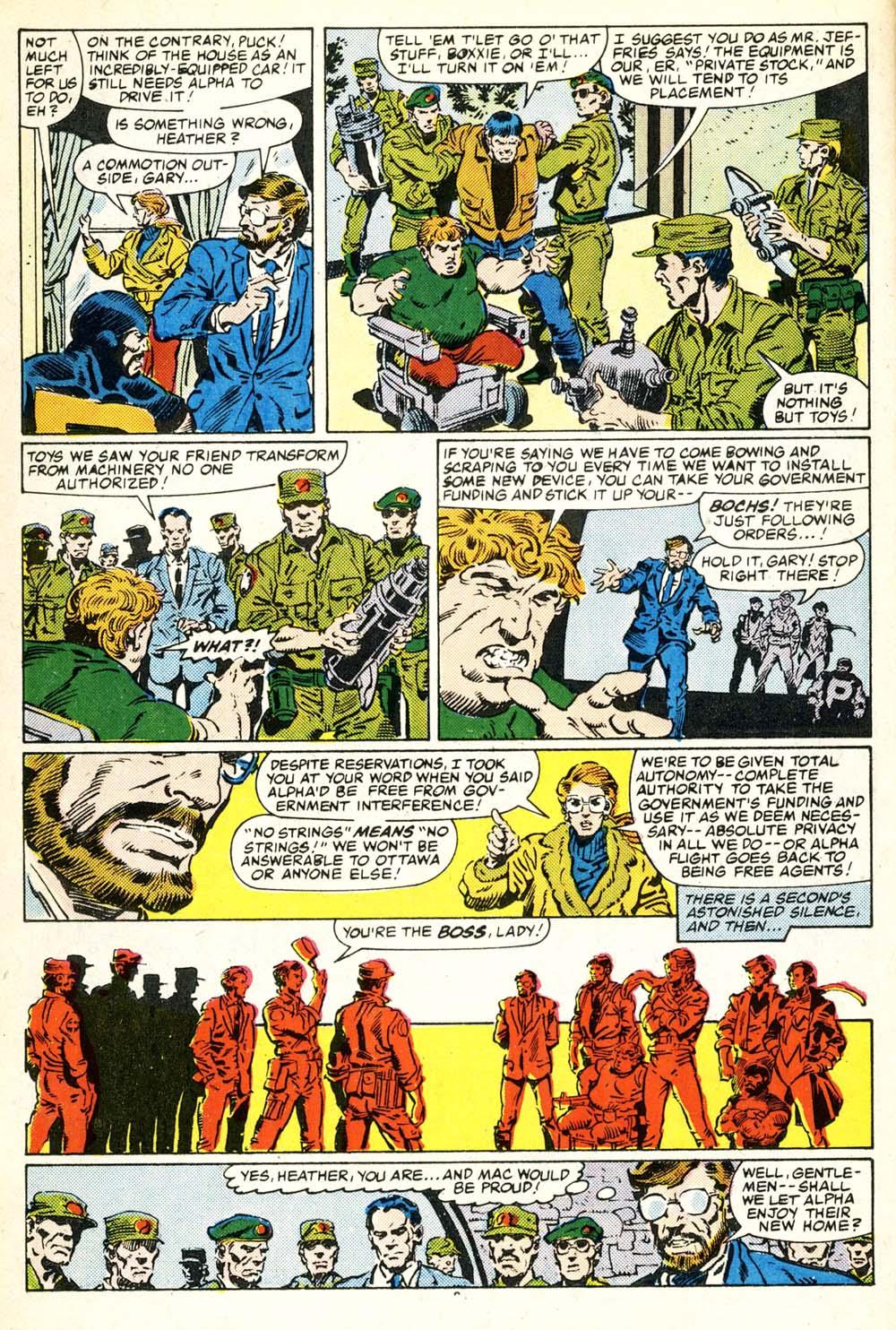 Read online Alpha Flight (1983) comic -  Issue #30 - 9