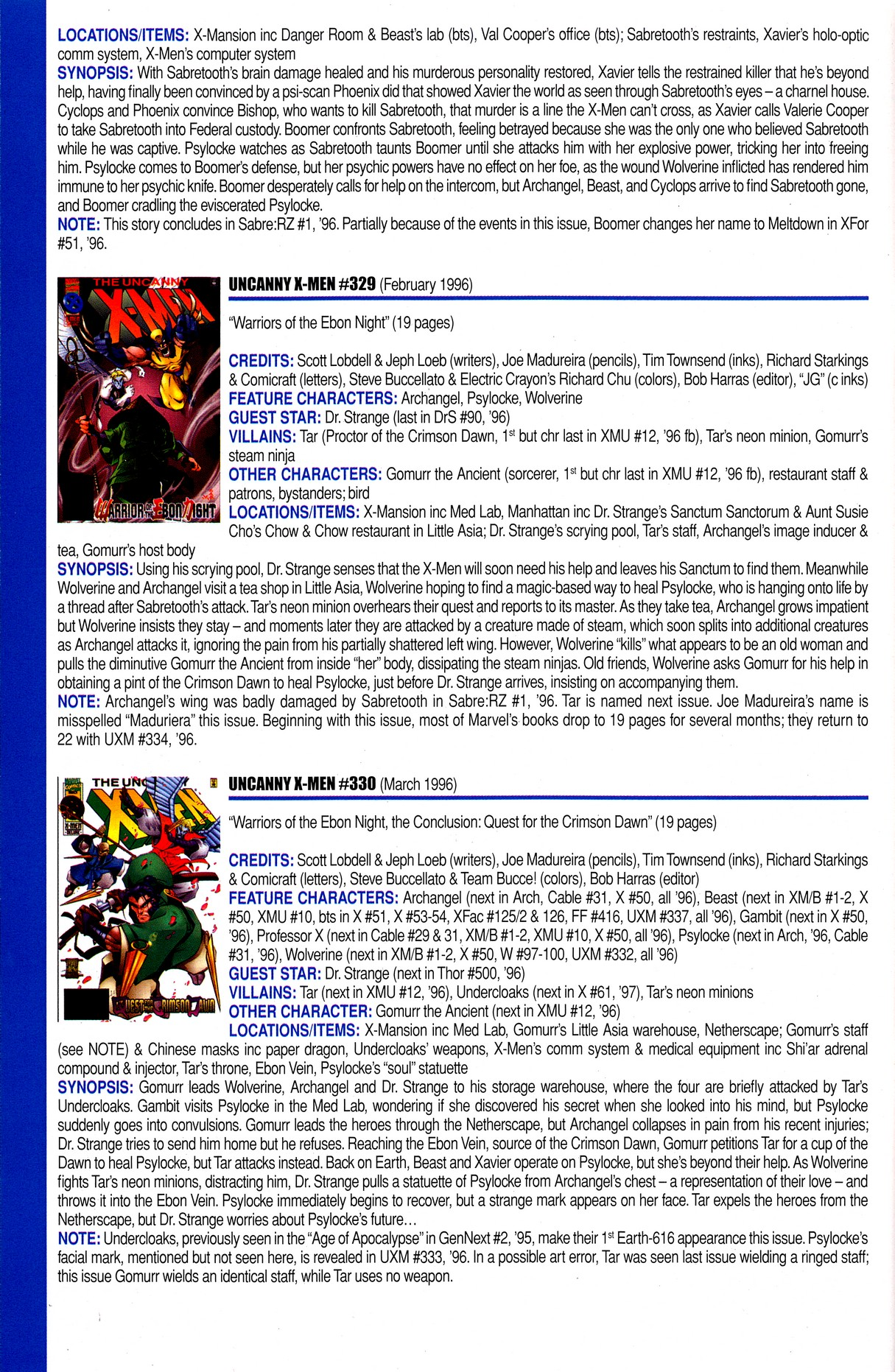Read online Official Index to the Marvel Universe comic -  Issue #8 - 62