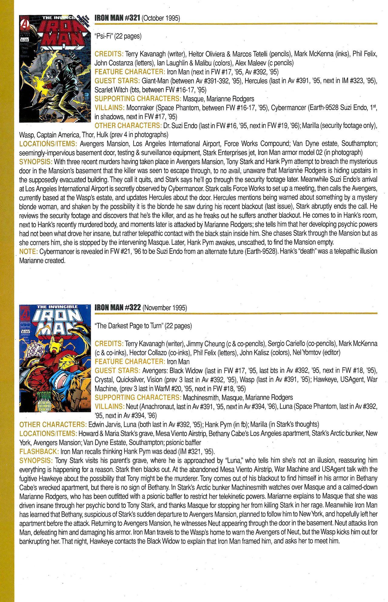 Read online Official Index to the Marvel Universe comic -  Issue #9 - 34