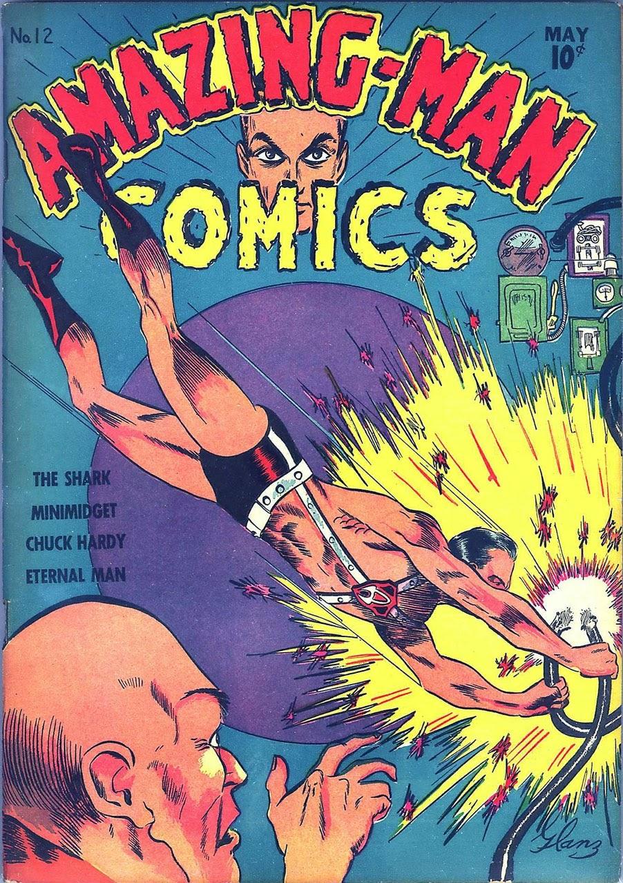 Read online Amazing Man Comics comic -  Issue #12 - 1