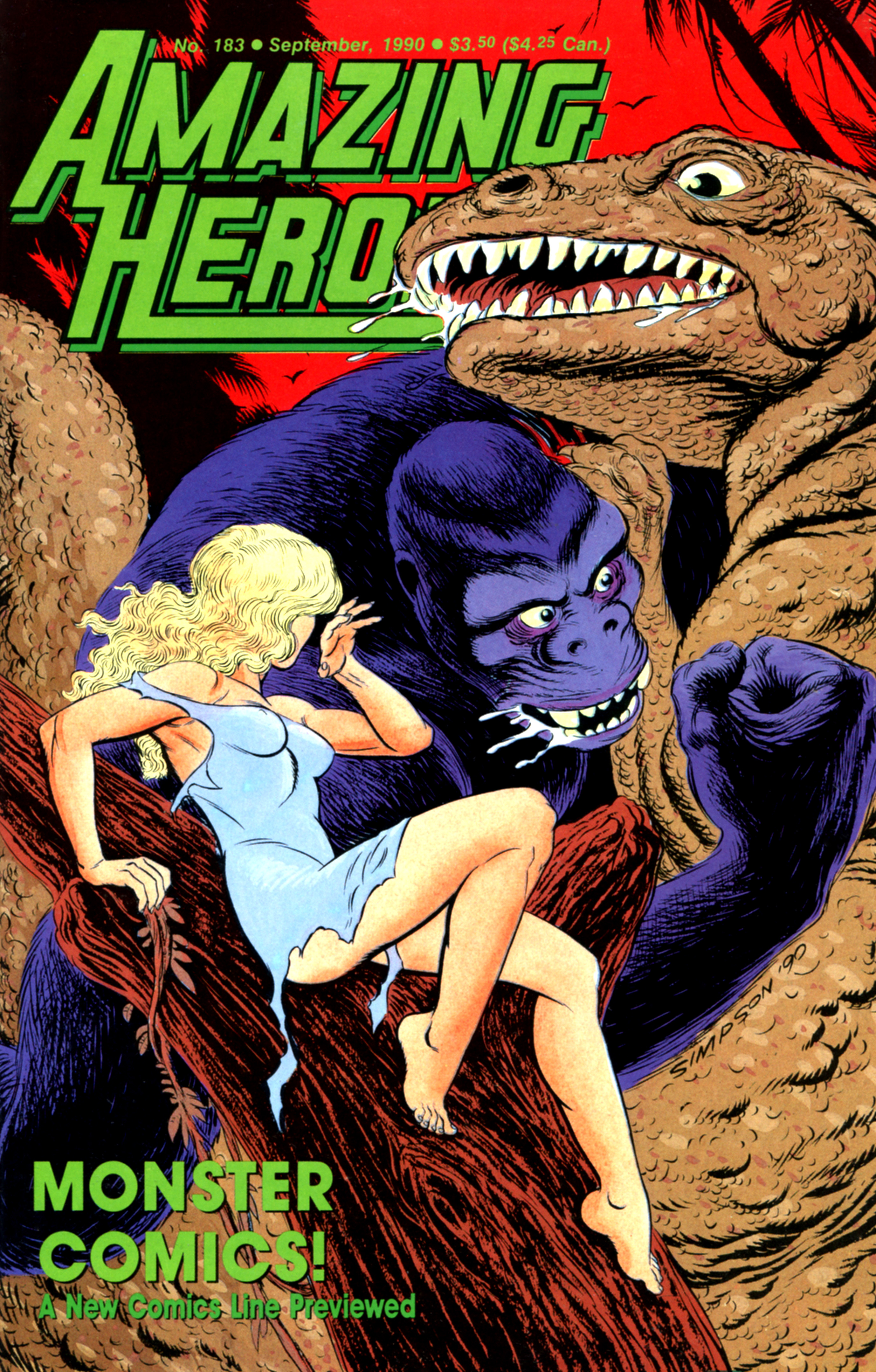 Read online Amazing Heroes comic -  Issue #183 - 1
