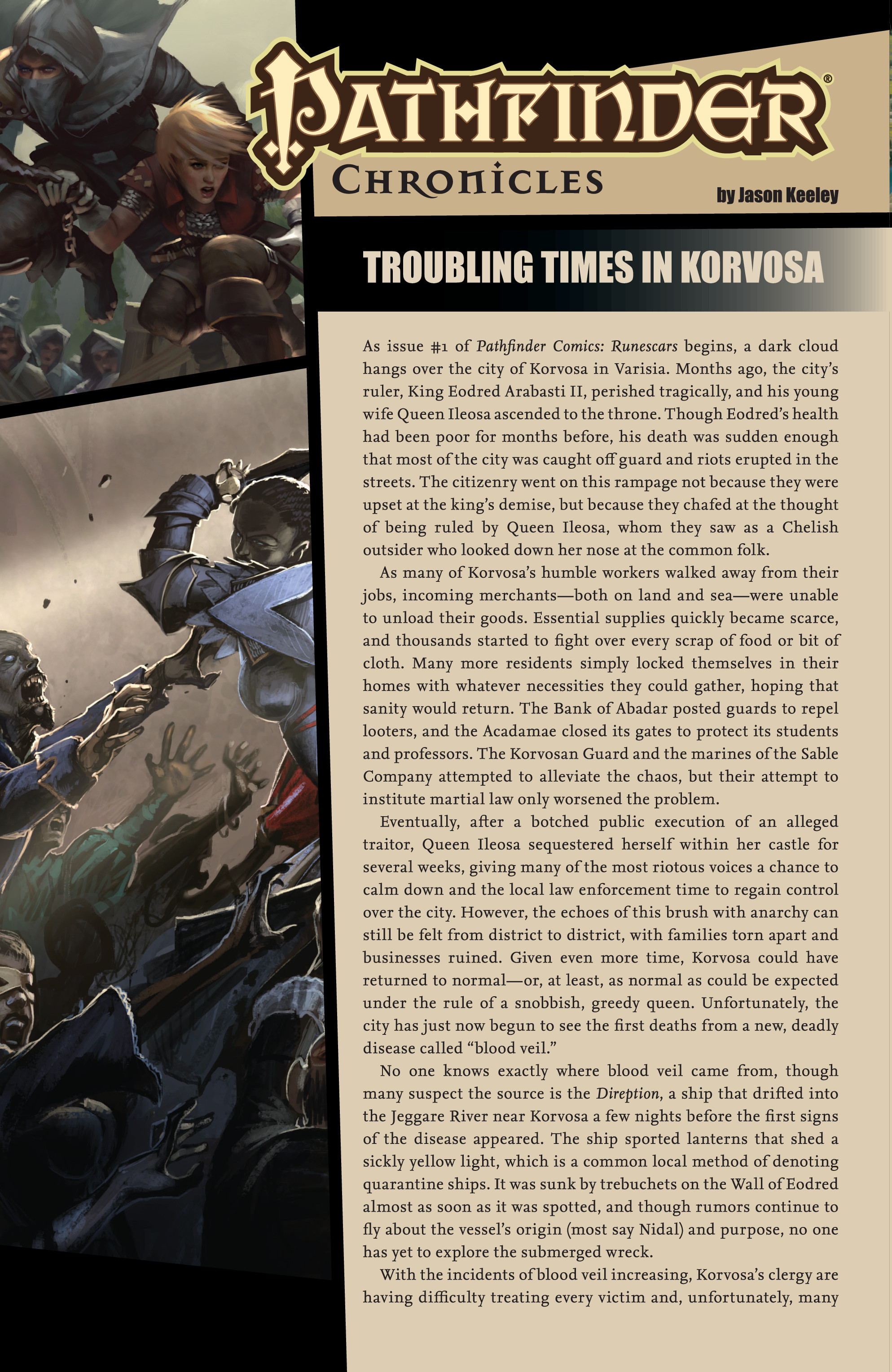 Read online Pathfinder: Runescars comic -  Issue #1 - 28