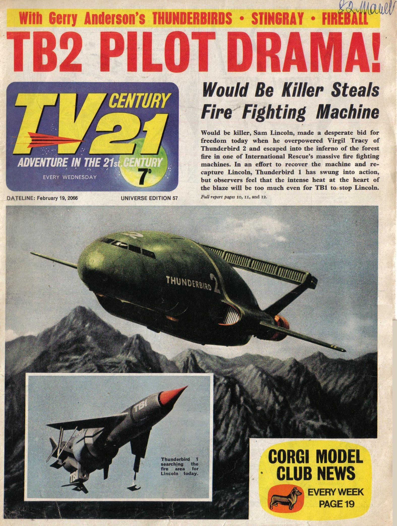 Read online TV Century 21 (TV 21) comic -  Issue #57 - 1