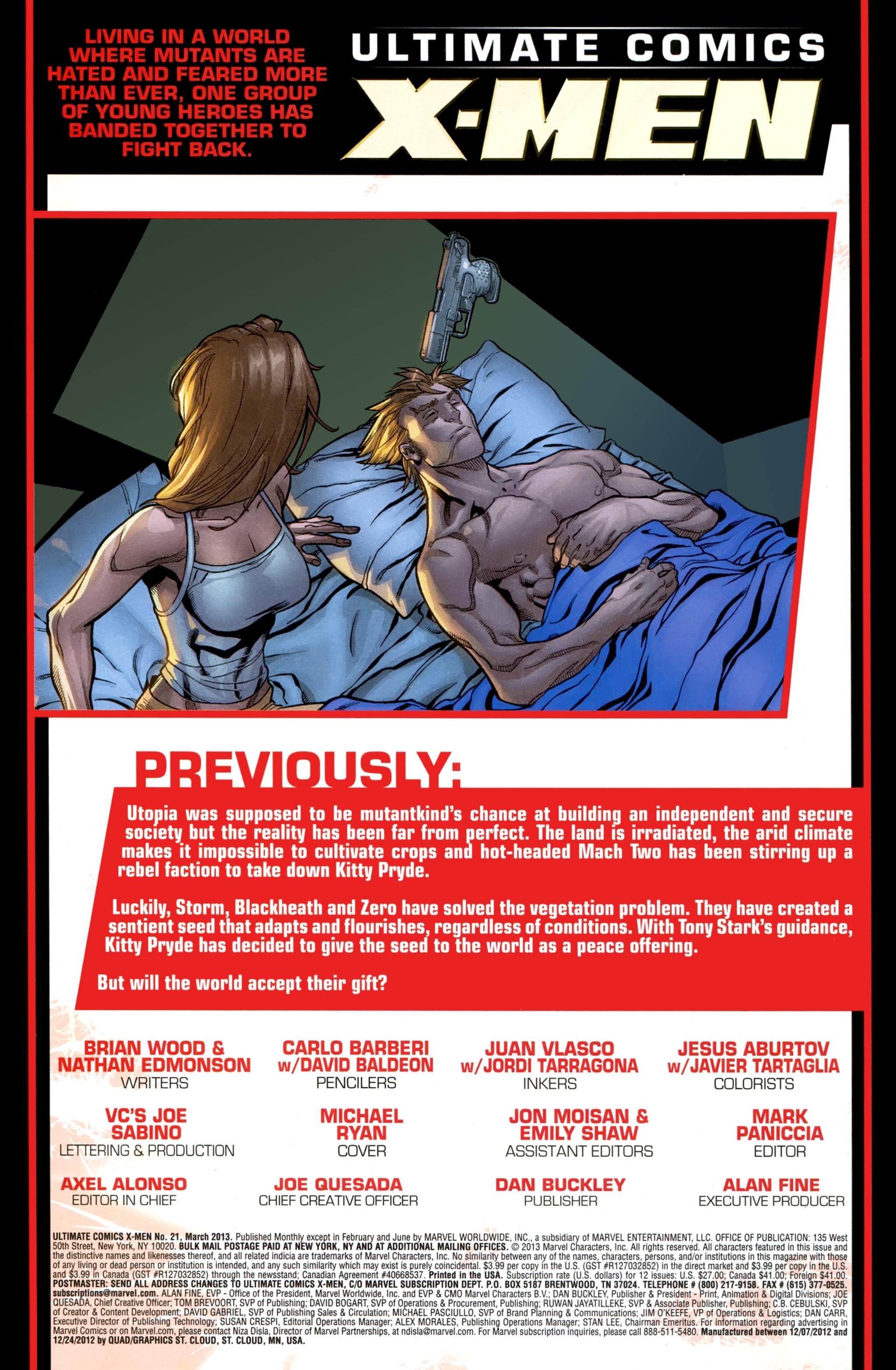 Read online Ultimate Comics X-Men comic -  Issue #21 - 2