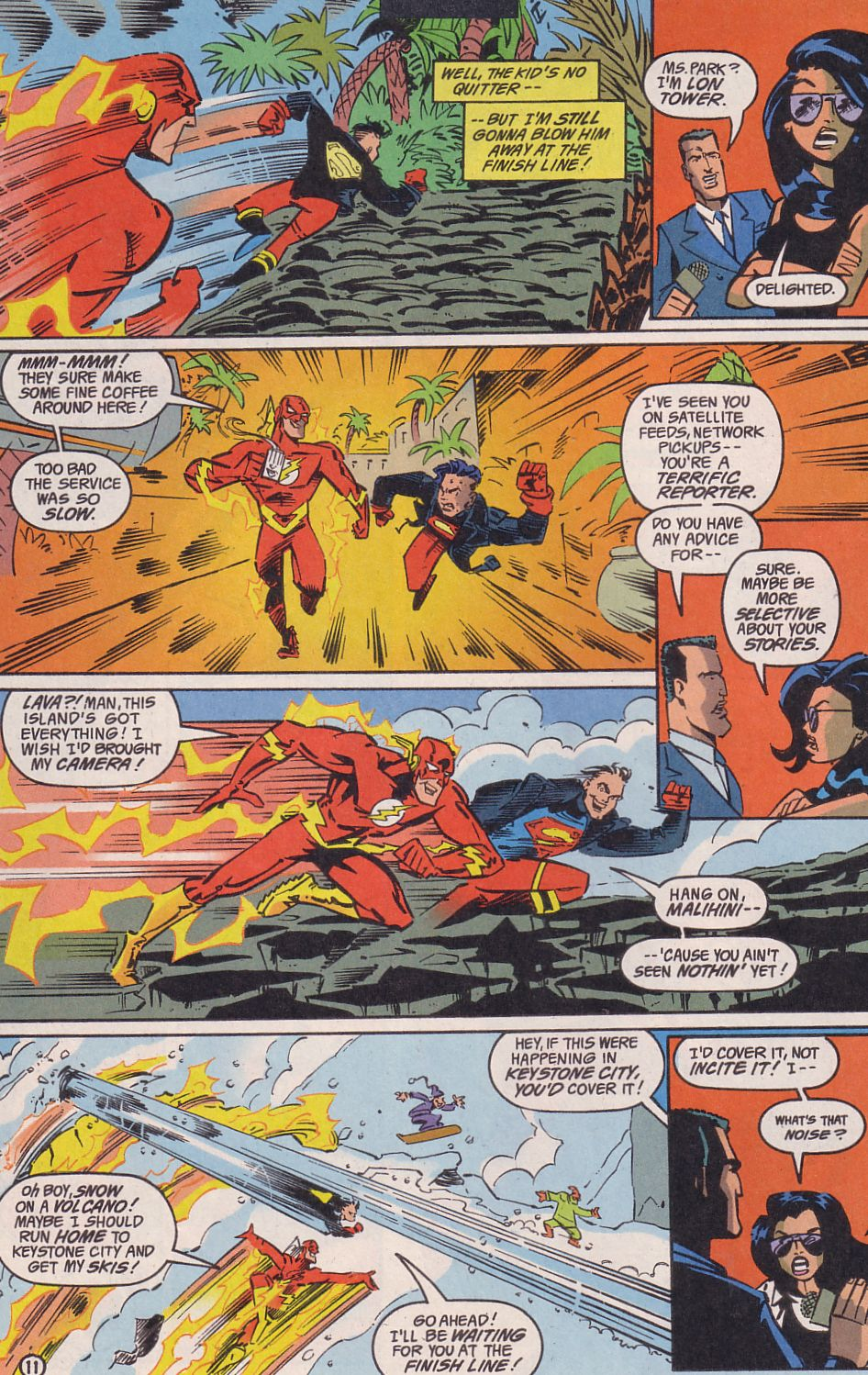 Read online Adventures in the DC Universe comic -  Issue #14 - 12