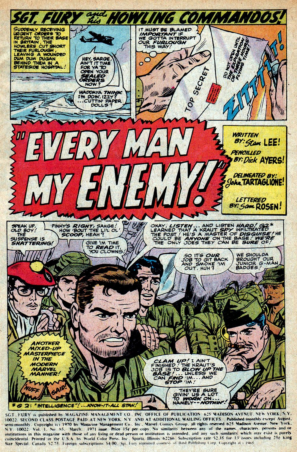 Read online Sgt. Fury comic -  Issue #85 - 3