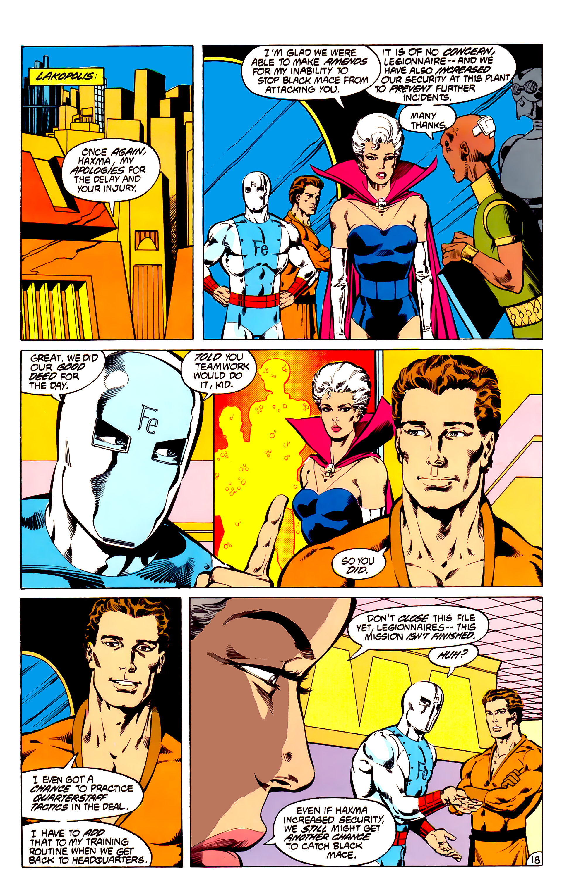 Legion of Super-Heroes (1984) 31 Page 18