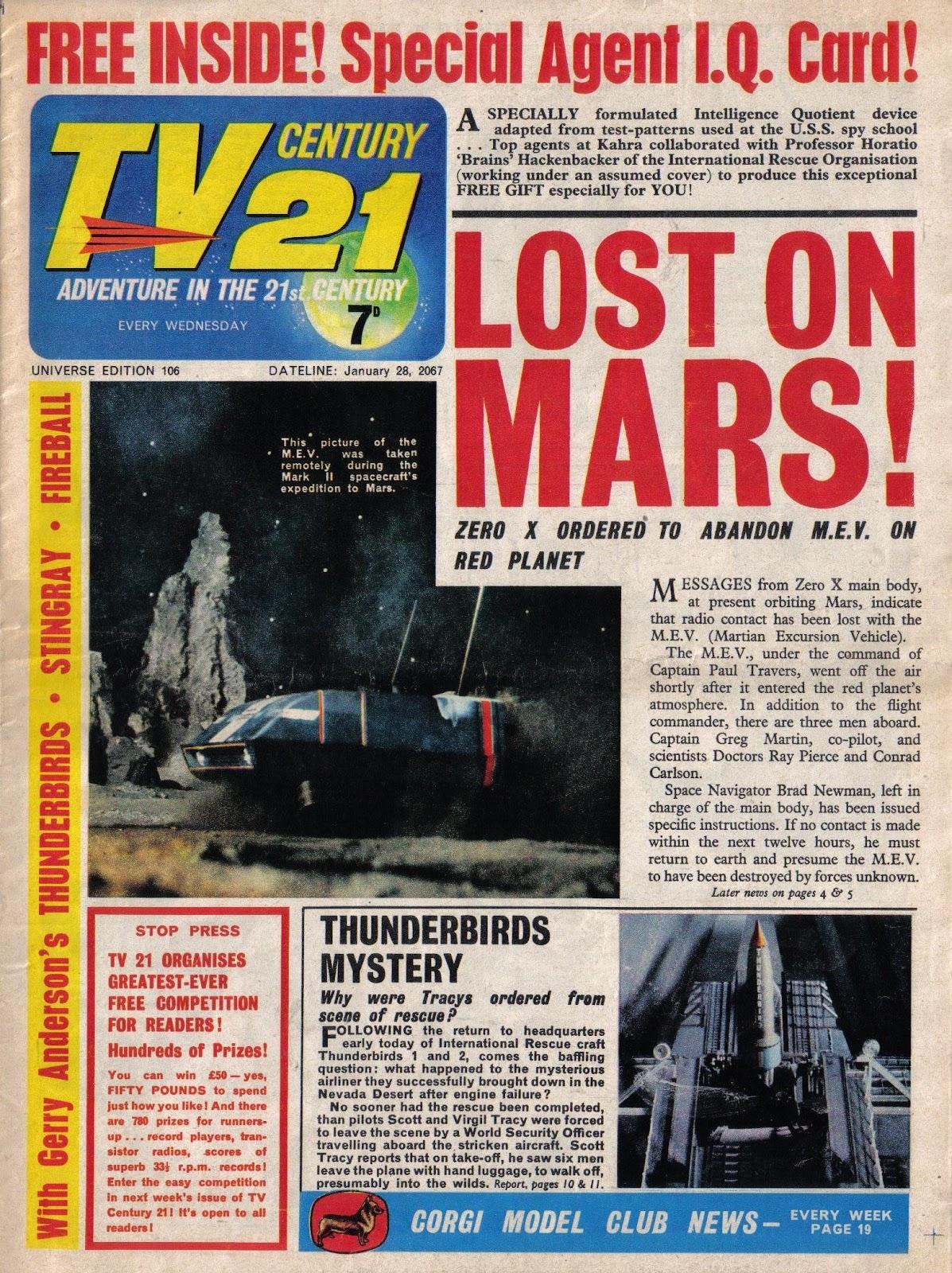 TV Century 21 (TV 21) issue 106 - Page 1