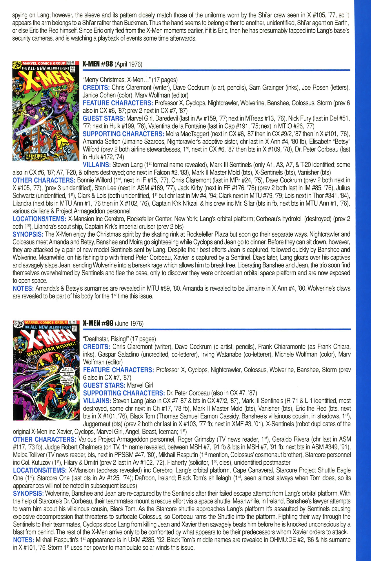 Read online Official Index to the Marvel Universe comic -  Issue #2 - 61