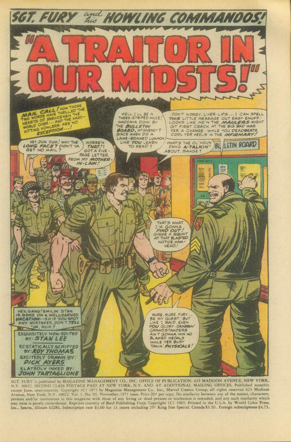 Read online Sgt. Fury comic -  Issue #93 - 3