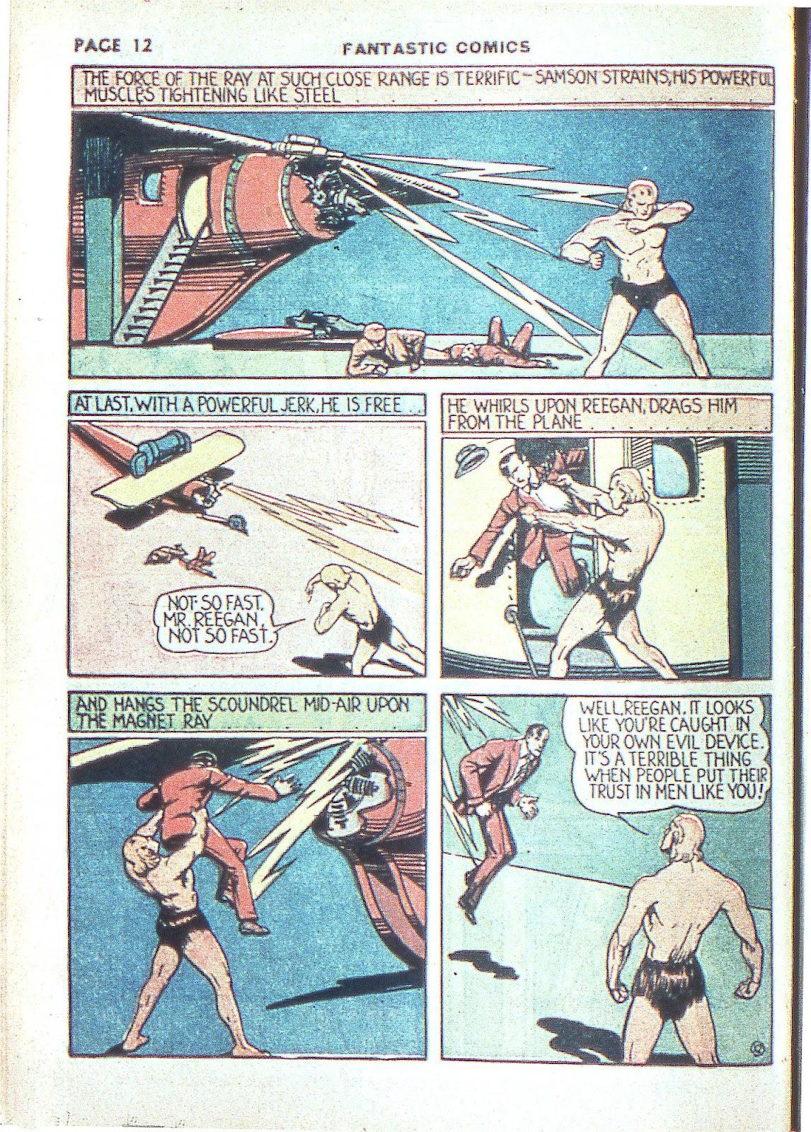 Read online Fantastic Comics comic -  Issue #3 - 15