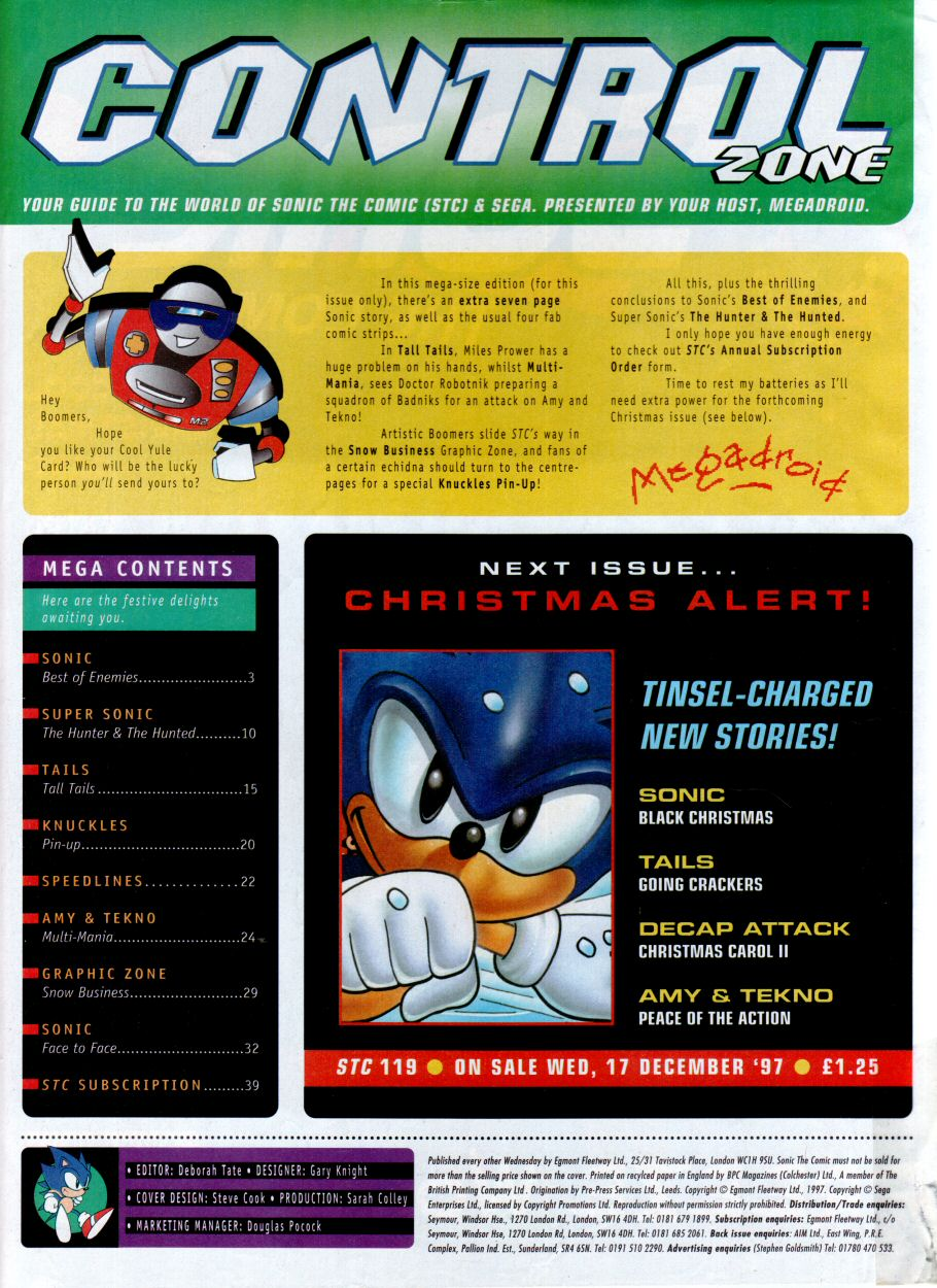 Read online Sonic the Comic comic -  Issue #118 - 2