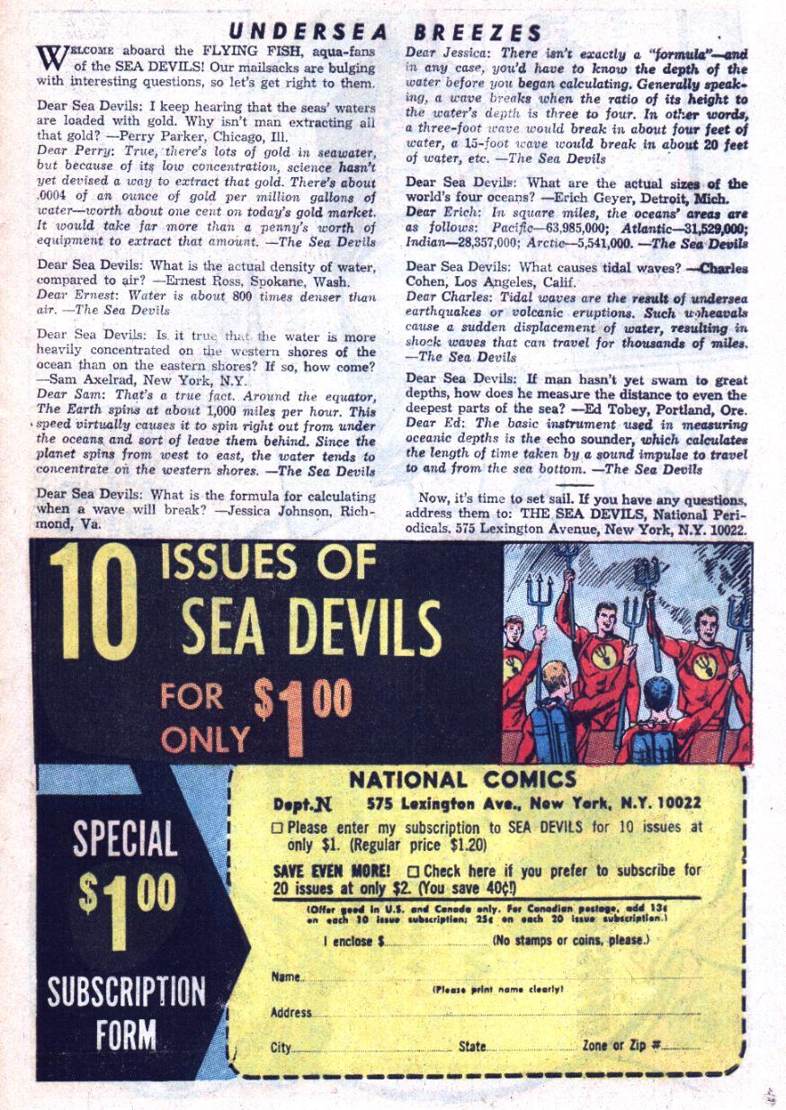 Read online Sea Devils comic -  Issue #25 - 34