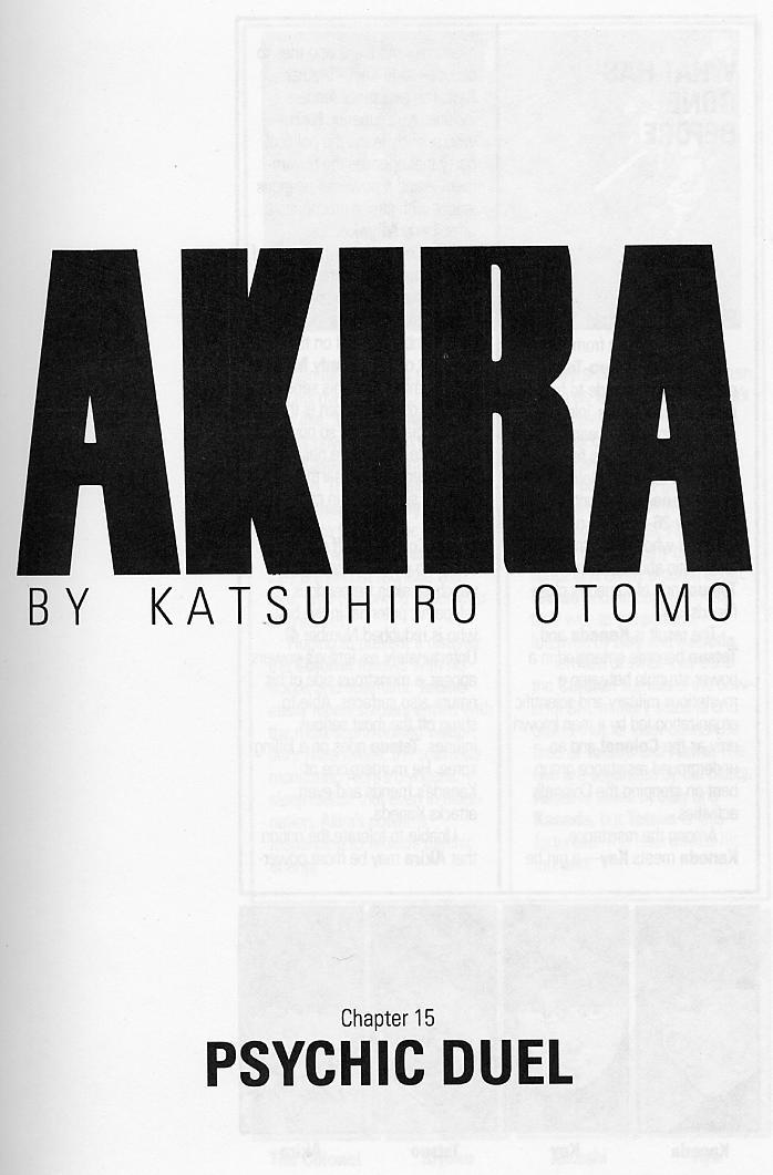 Read online Akira comic -  Issue #15 - 4