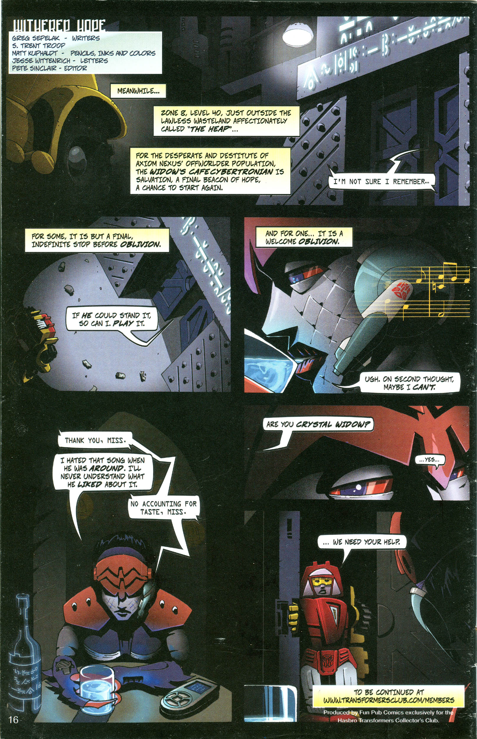 Read online Transformers: Collectors' Club comic -  Issue #20 - 16