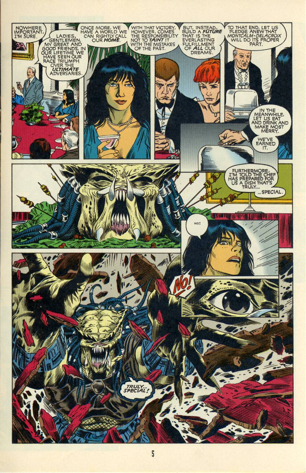 Read online Aliens/Predator: The Deadliest of the Species comic -  Issue #3 - 5