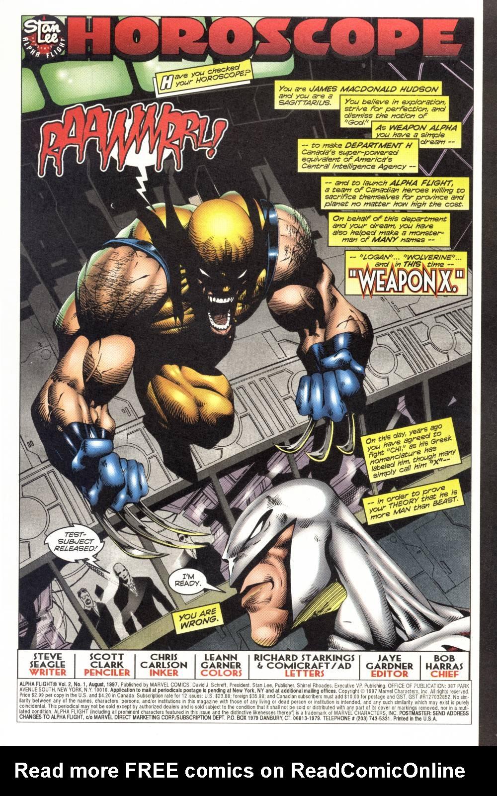 Read online Alpha Flight (1997) comic -  Issue #1 - 3