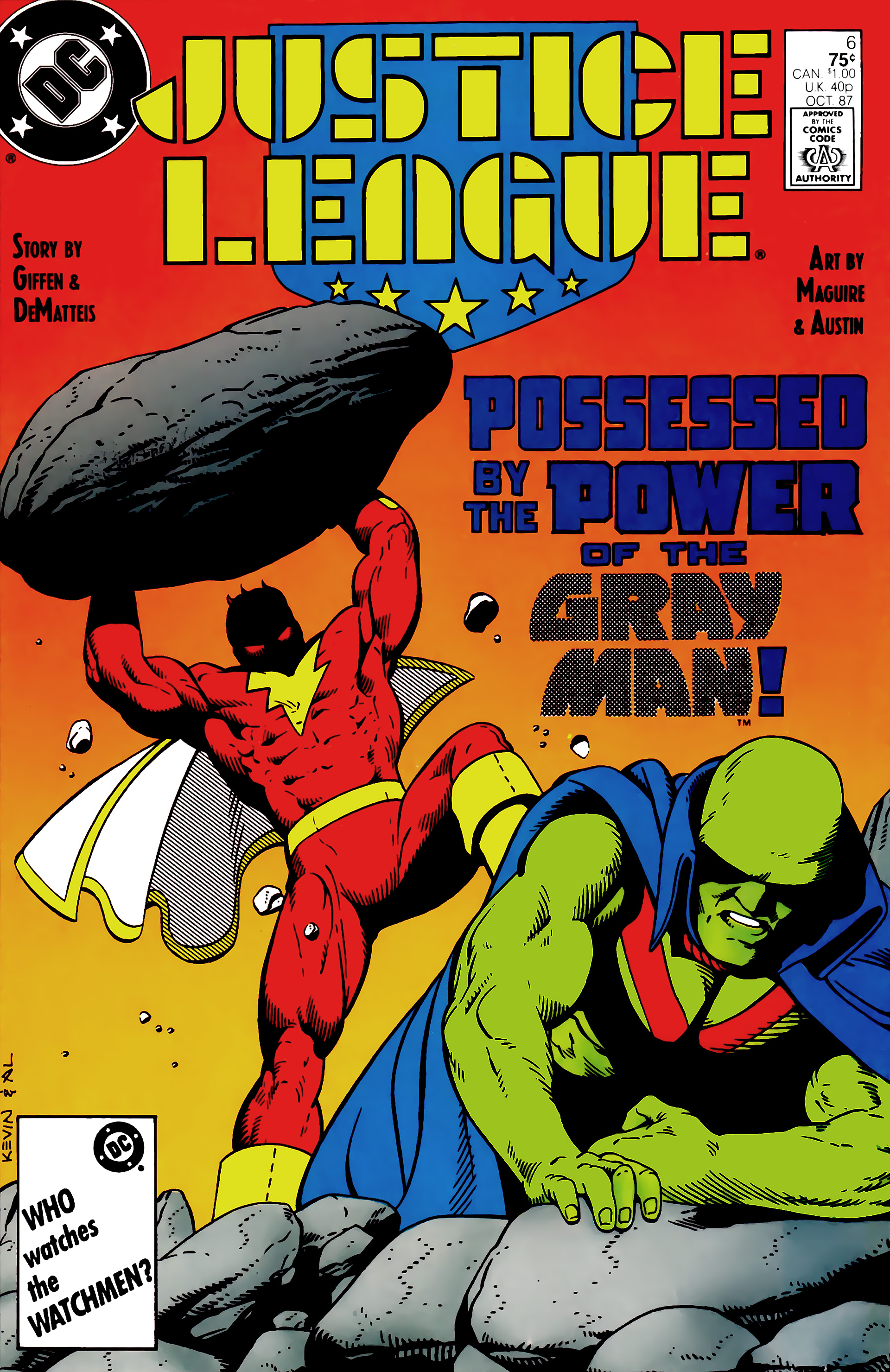 Read online Justice League (1987) comic -  Issue #6 - 1