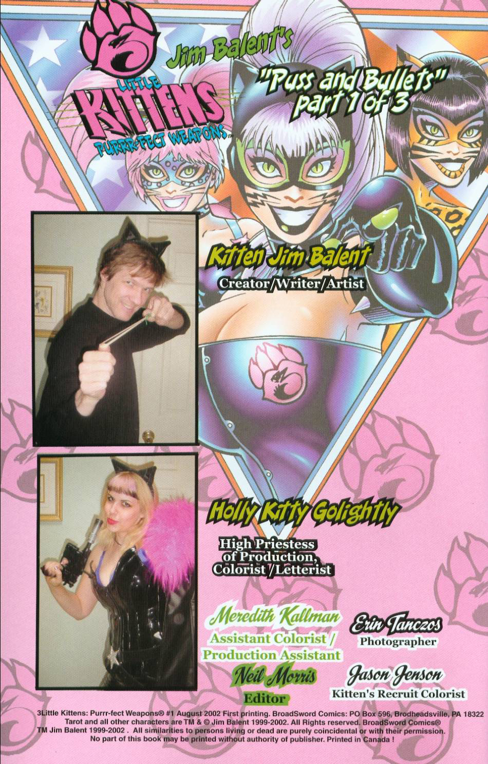Read online 3 Little Kittens: Purrr-fect Weapons comic -  Issue #1 - 2
