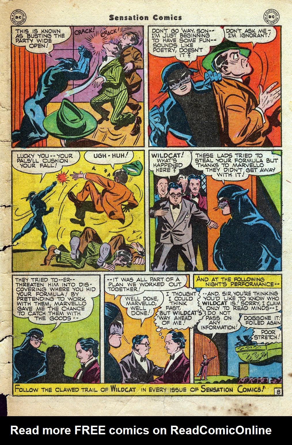 Read online Sensation (Mystery) Comics comic -  Issue #60 - 49