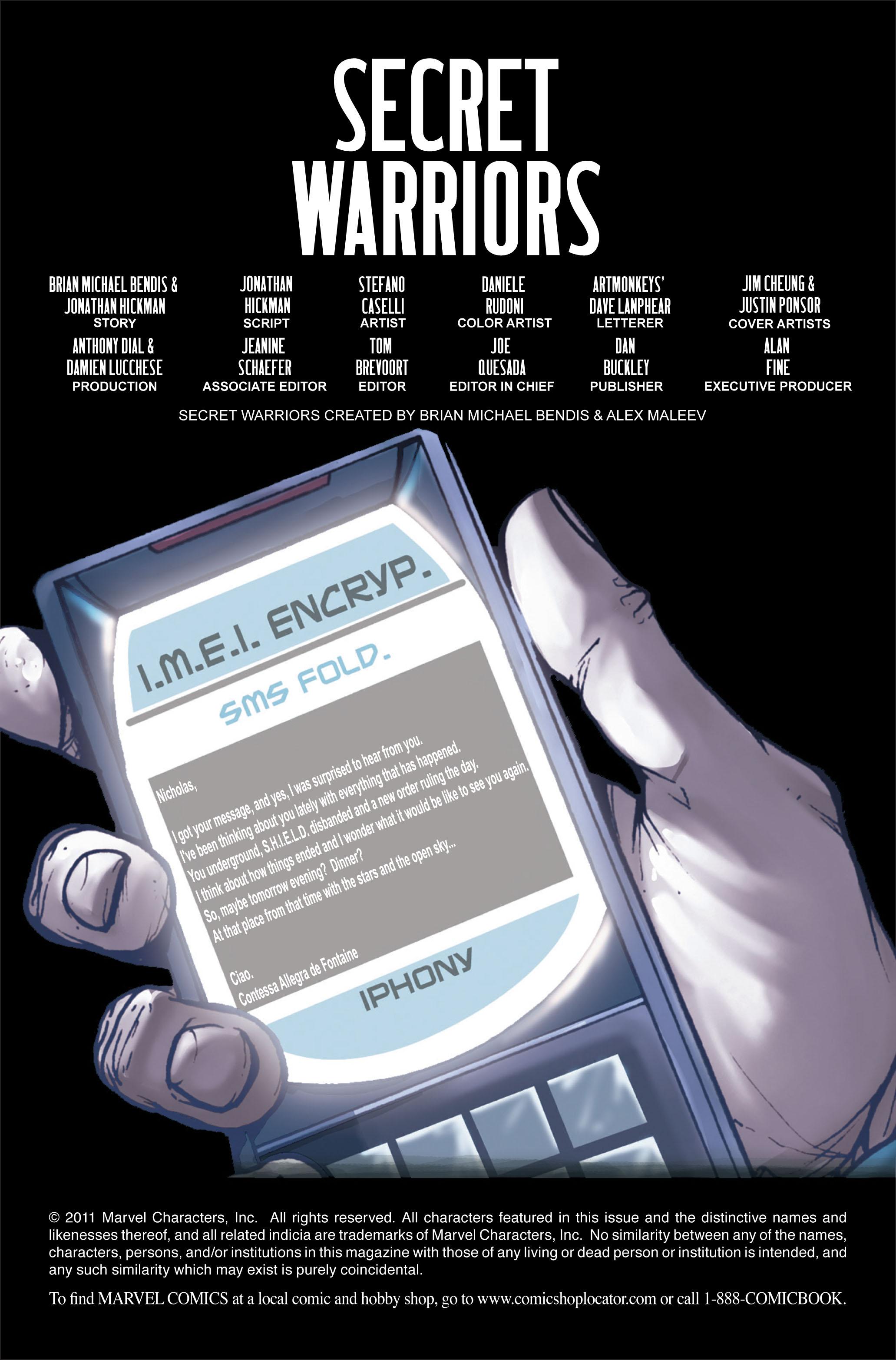 Read online Secret Warriors comic -  Issue #3 - 3