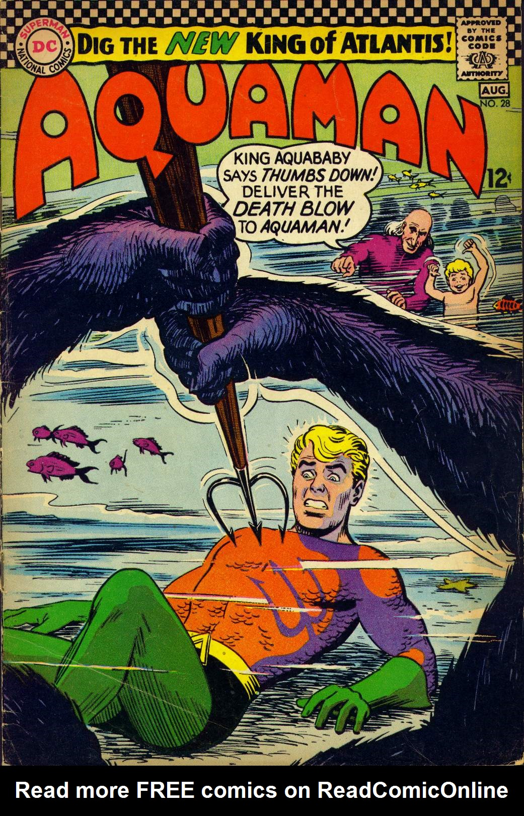 Read online Aquaman (1962) comic -  Issue #28 - 1