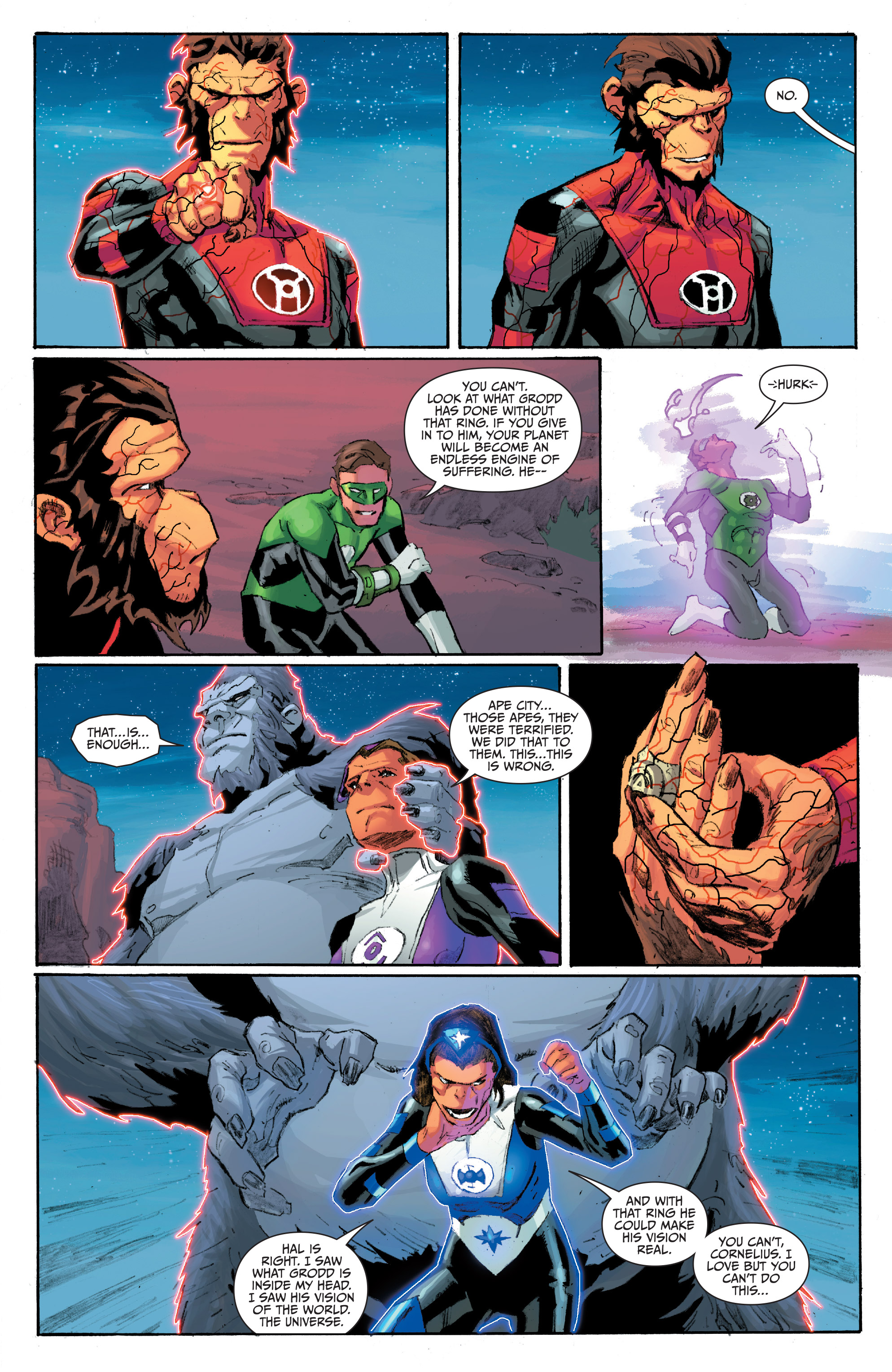 Read online Planet of the Apes/Green Lantern comic -  Issue #5 - 19