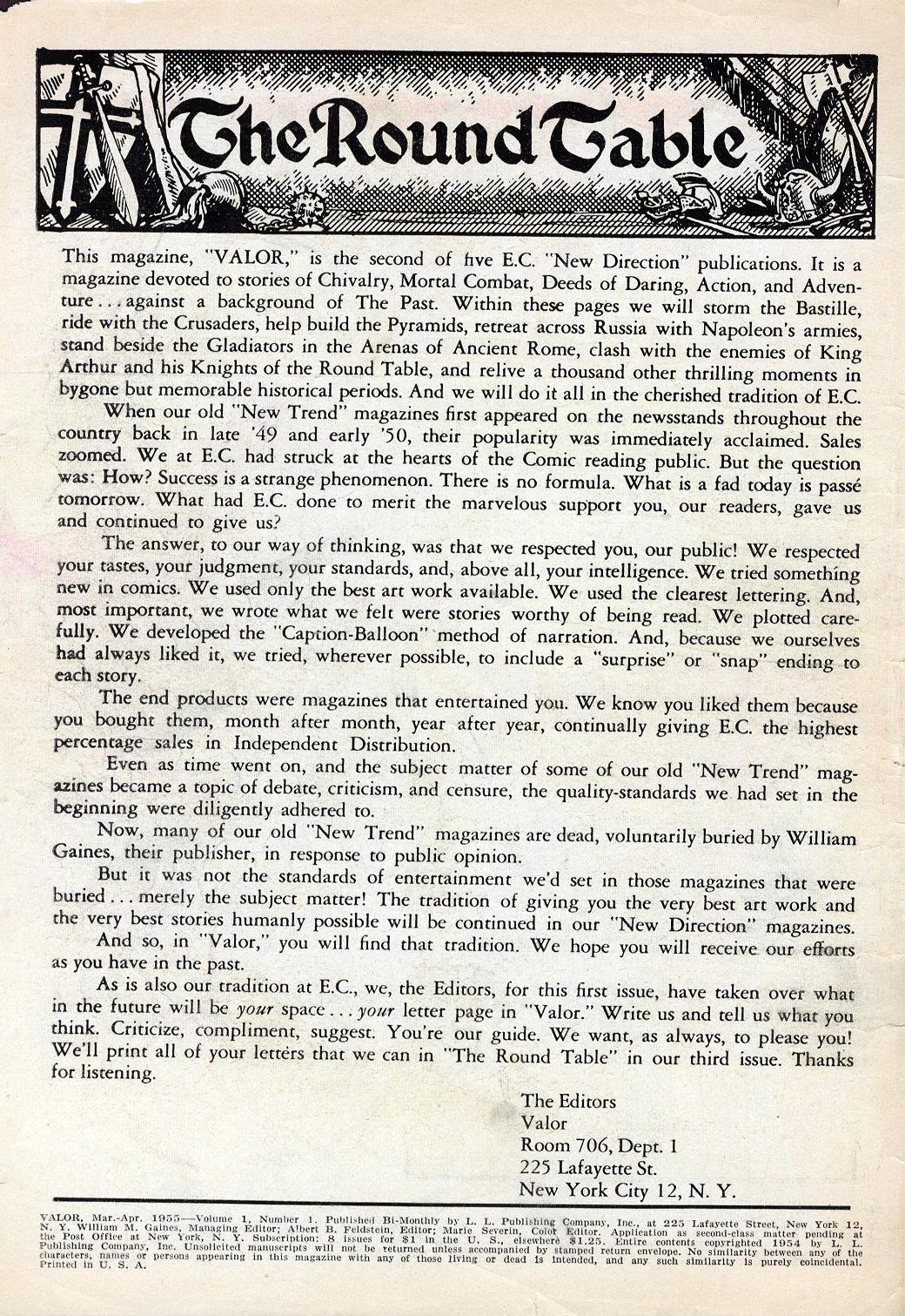 Valor (1955) 1 Page 1