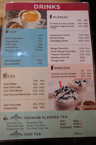 mrs fields cafe menu