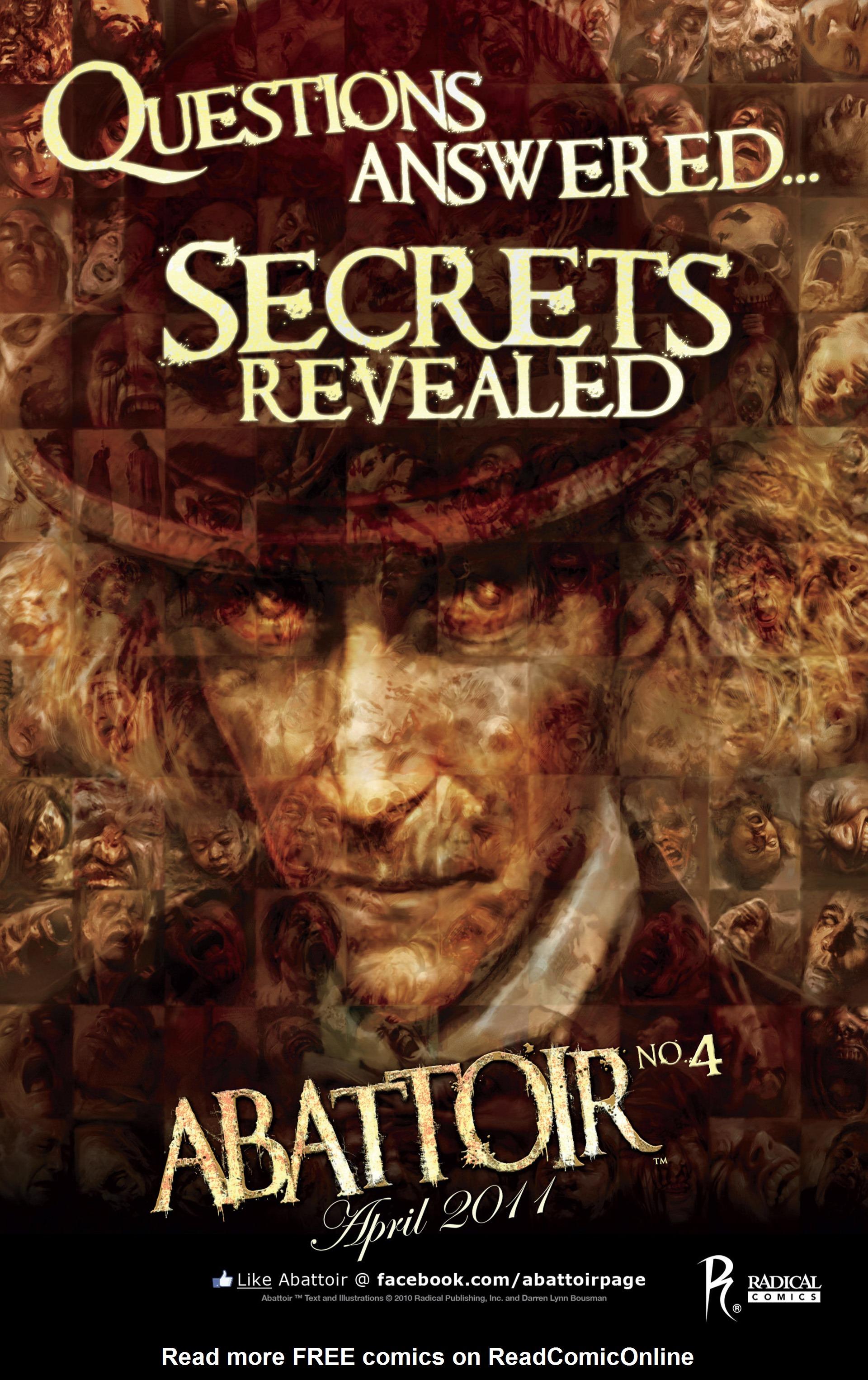 Read online Abattoir comic -  Issue #3 - 25